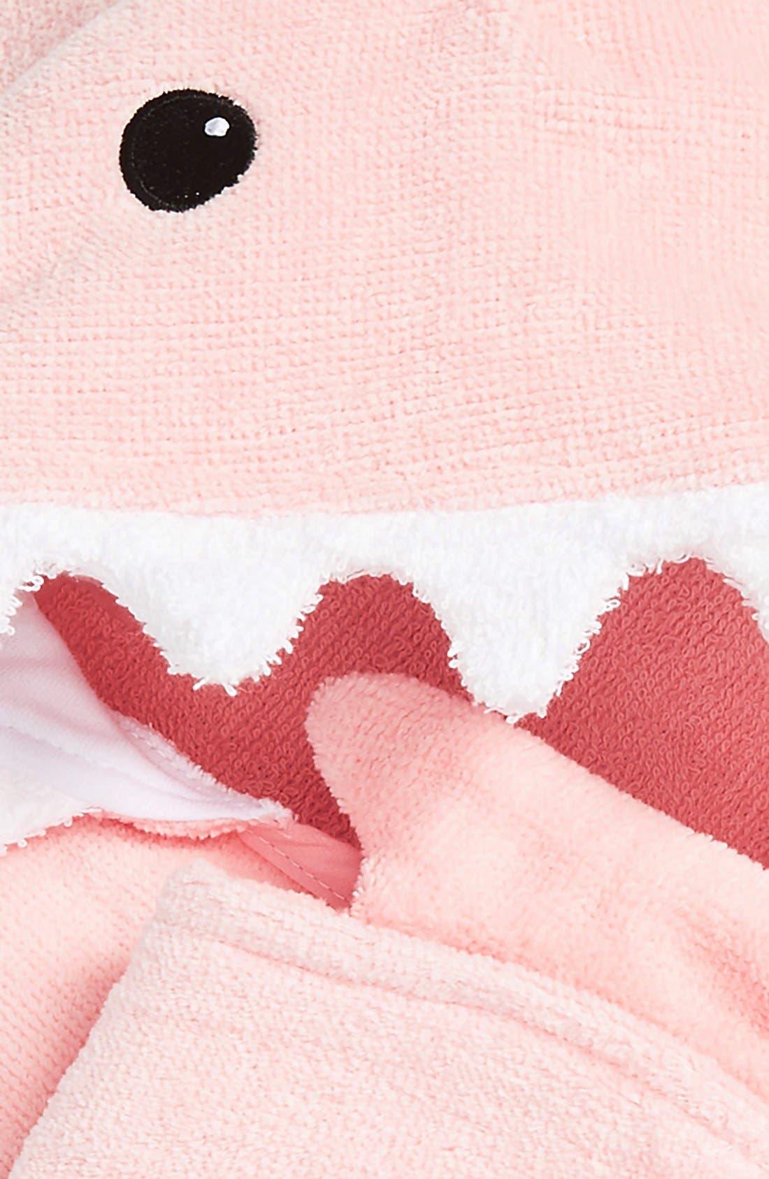 'Let the Fin Begin' Hooded Terry Robe, Bath Mitt & Slippers Set,                             Alternate thumbnail 3, color,                             Light Pink