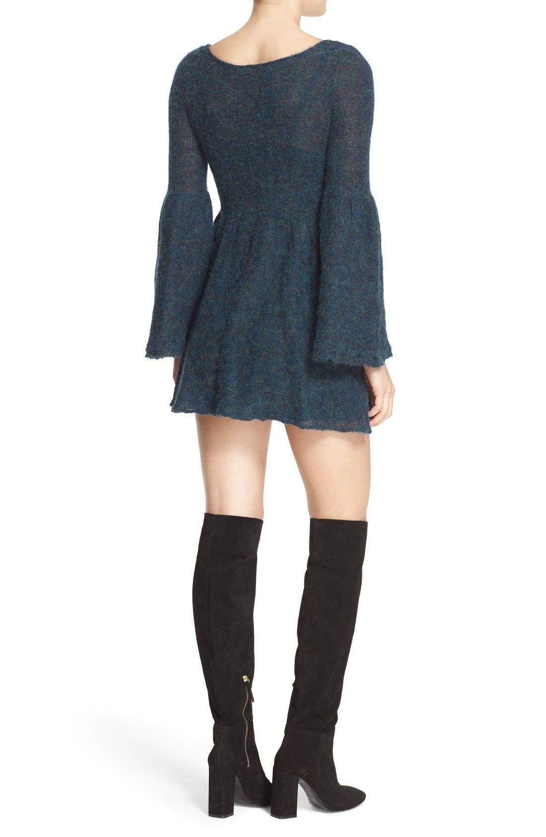 Alternate Image 2  - Free People 'Juliet' Babydoll Sweater Dress