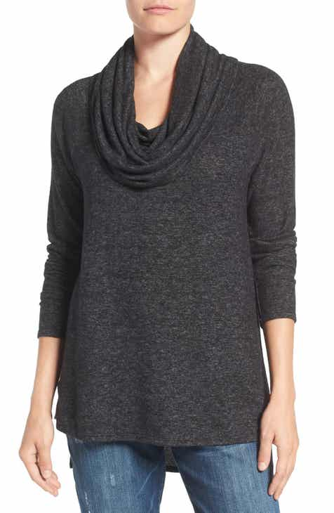 Gibson Cozy Convertible Neckline Tunic (Regular & Petite) by GIBSON