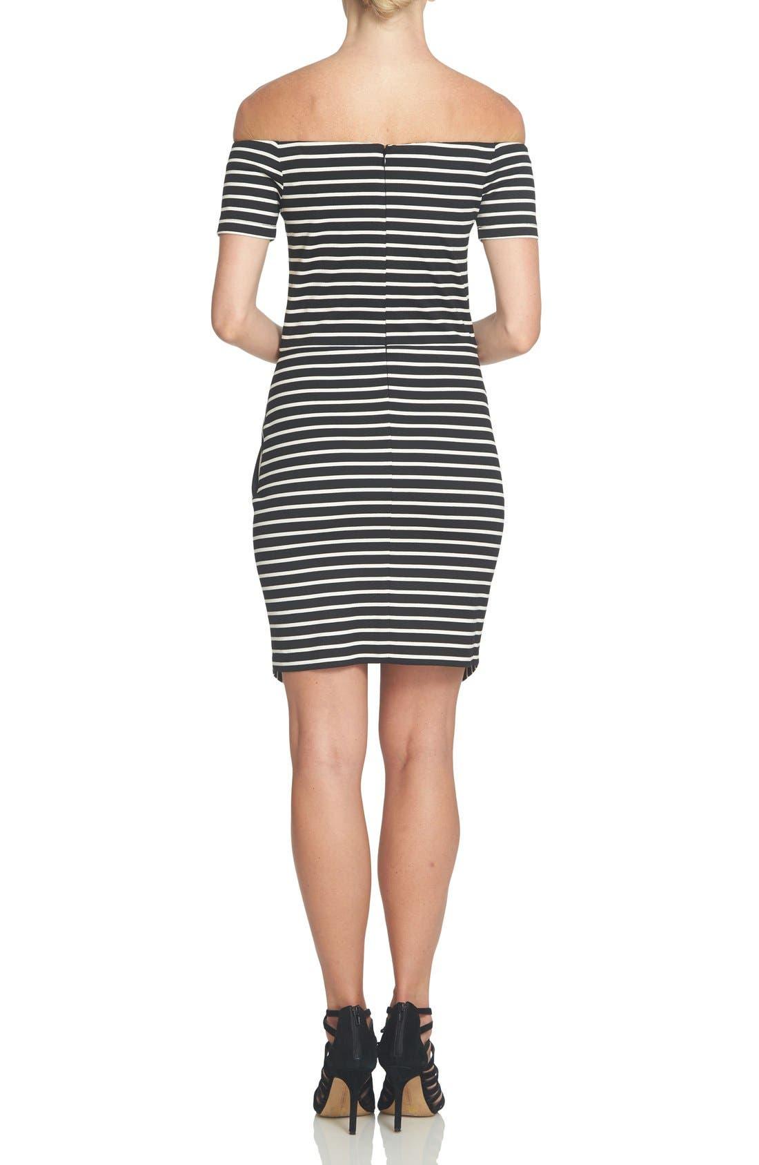 Alternate Image 2  - 1.STATE Stripe Off the Shoulder Body-Con Dress