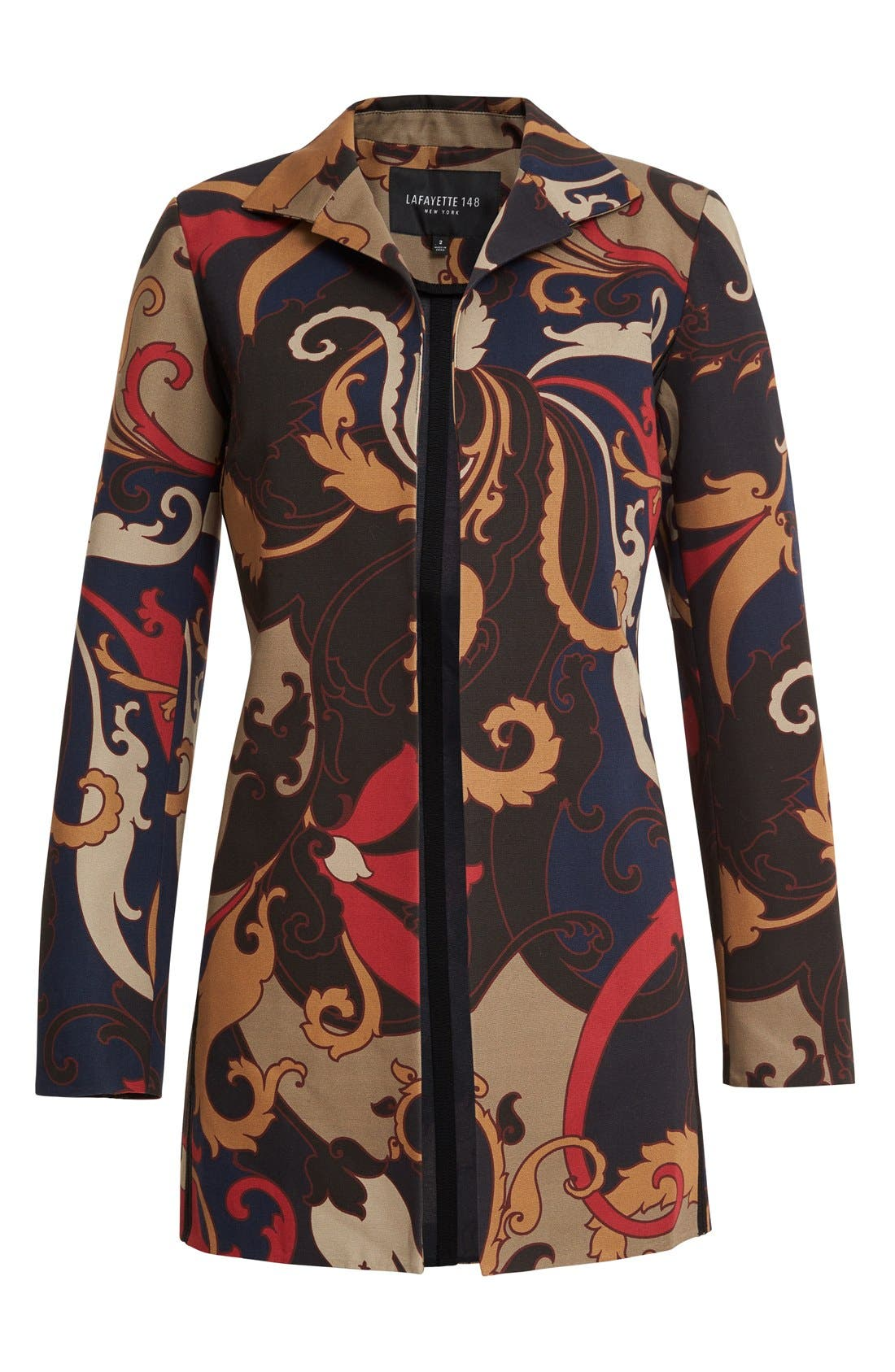 Alternate Image 4  - Lafayette 148 New York 'Luciana' Print Jacket