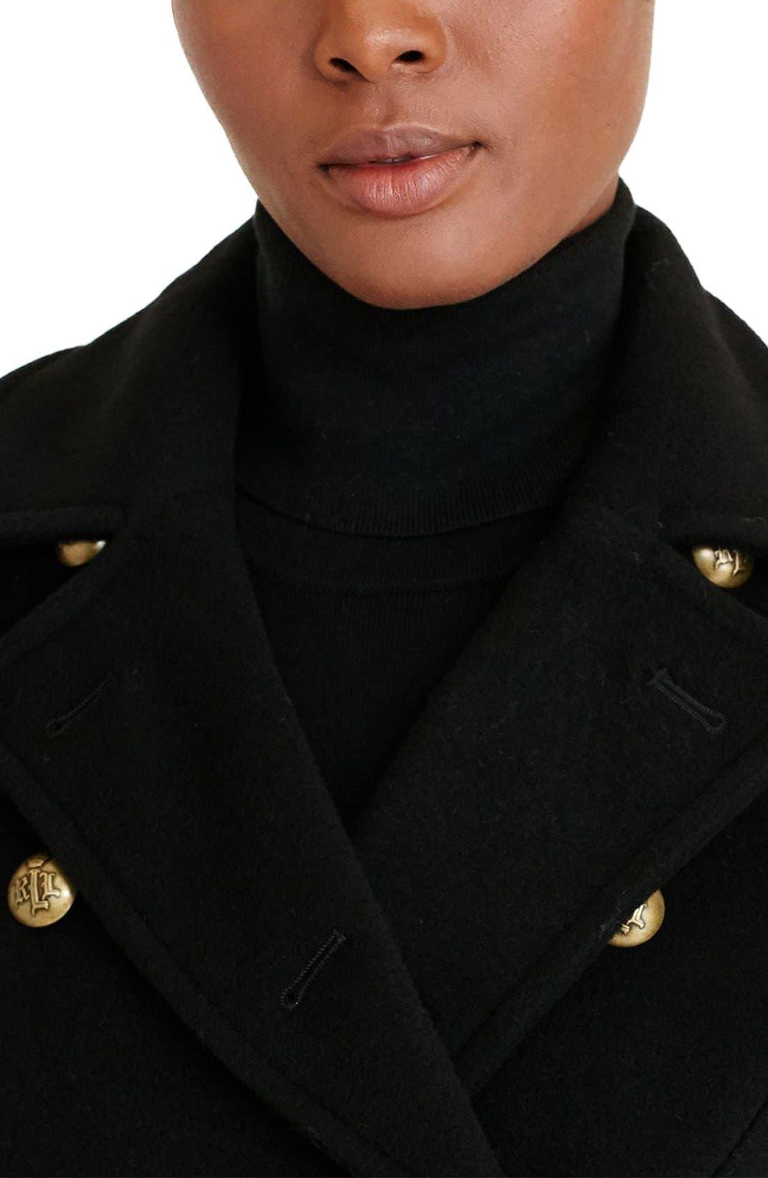 Alternate Image 3  - Lauren Ralph Lauren Double Breasted Military Maxi Coat