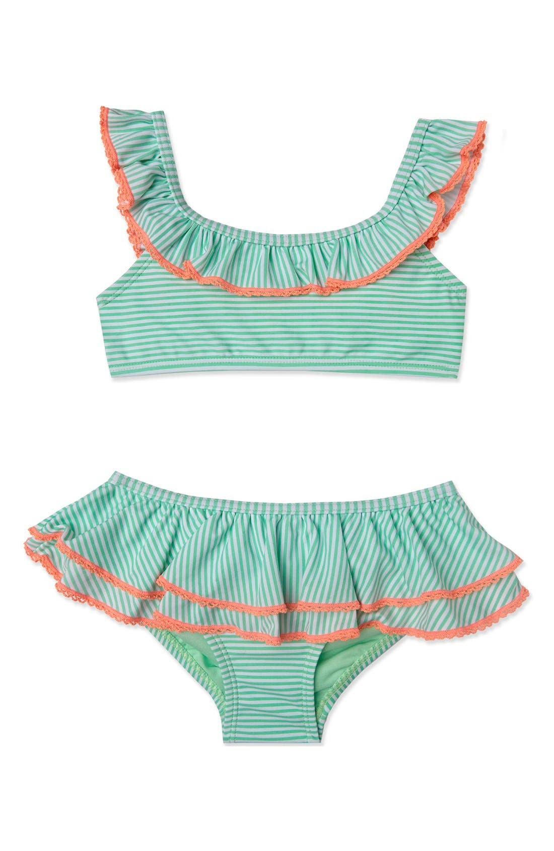 Alternate Image 1 Selected - Hula Star 'Sailor Stripe' Two-Piece Swimsuit (Toddler Girls & Little Girls)