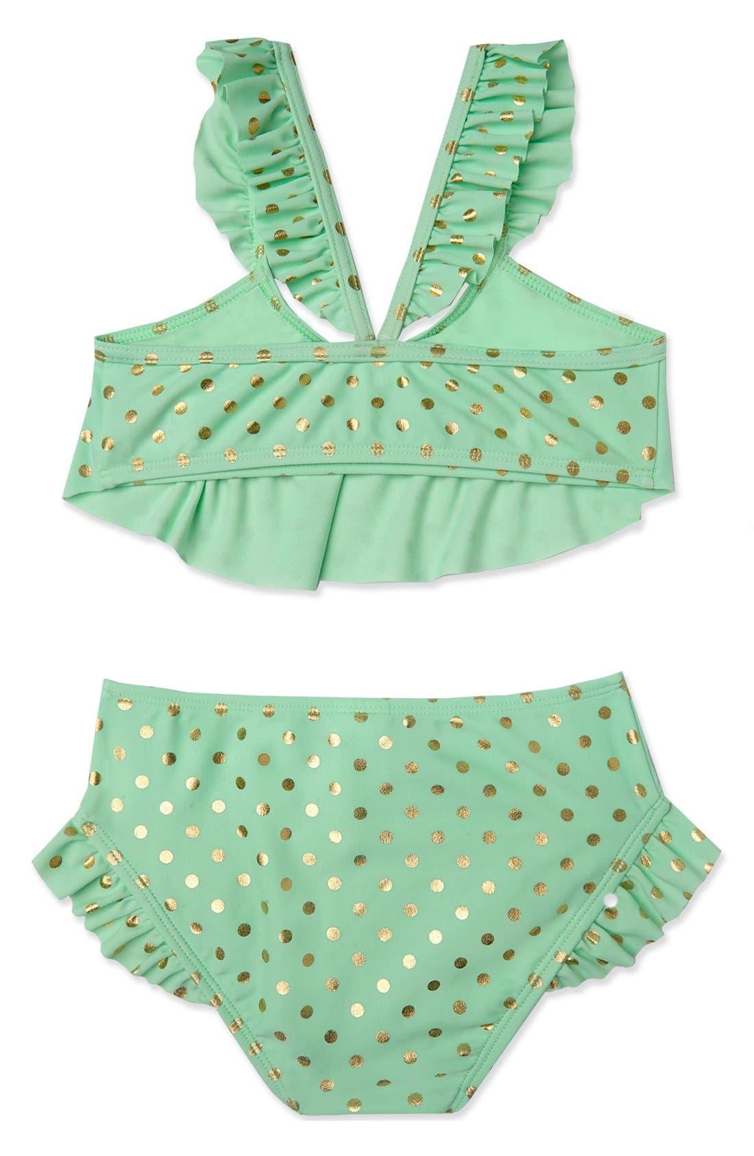 Alternate Image 2  - Hula Star 'Milkshake' Two-Piece Swimsuit (Toddler Girls & Little Girls)