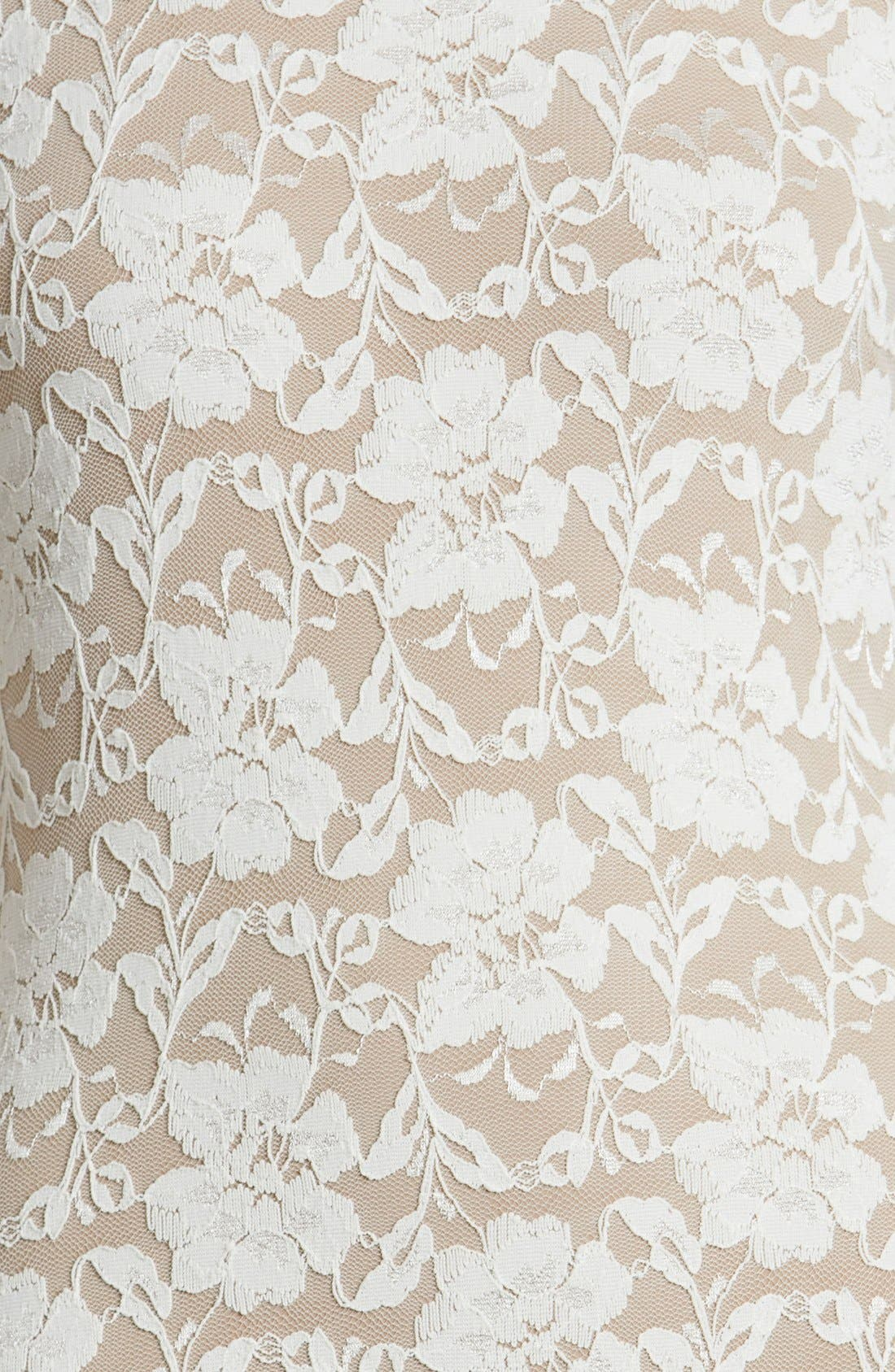 Alternate Image 4  - Dress the Population Emery Lace Body-Con Midi Dress