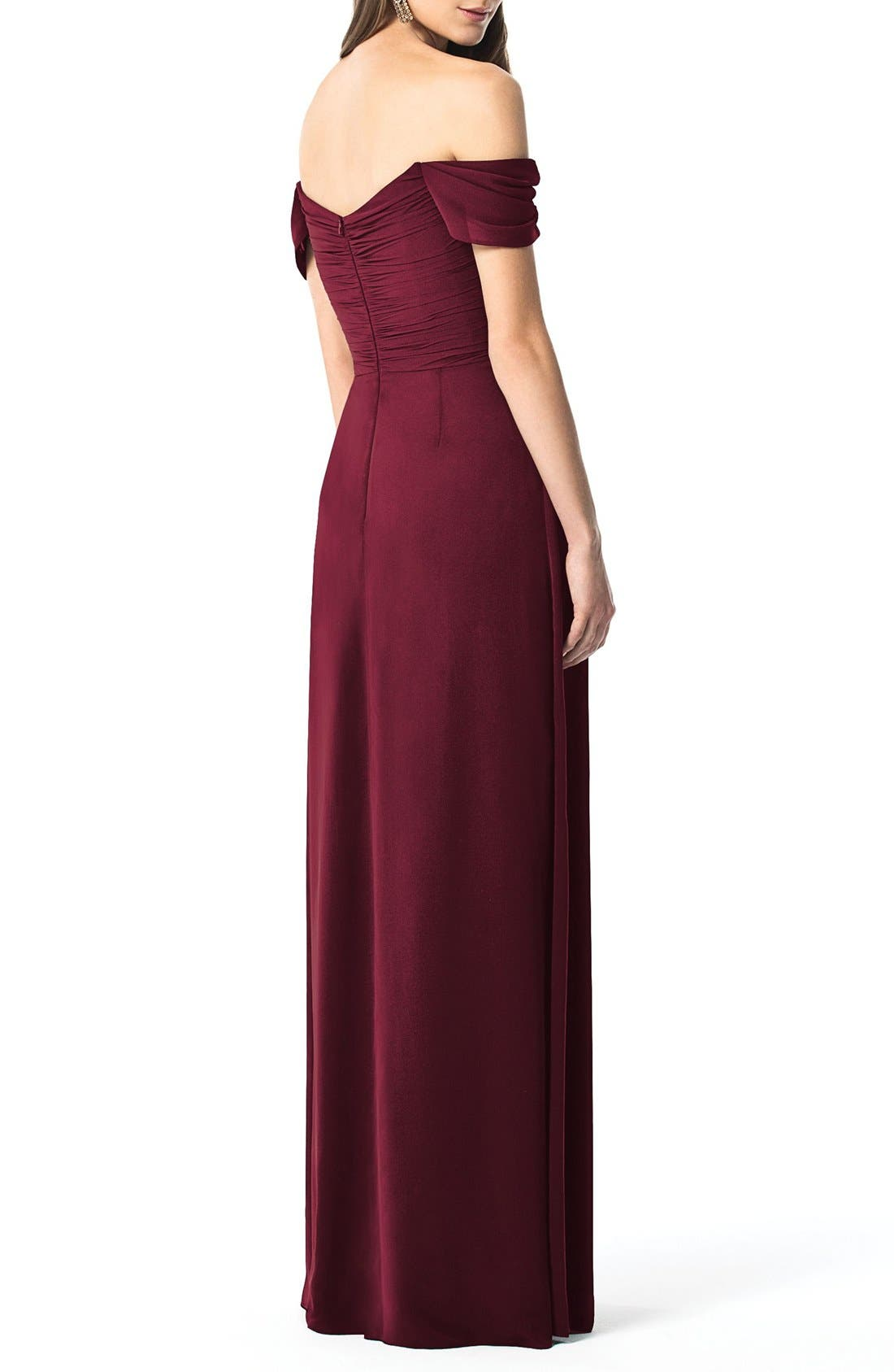 Alternate Image 2  - Dessy Collection Ruched Chiffon Gown