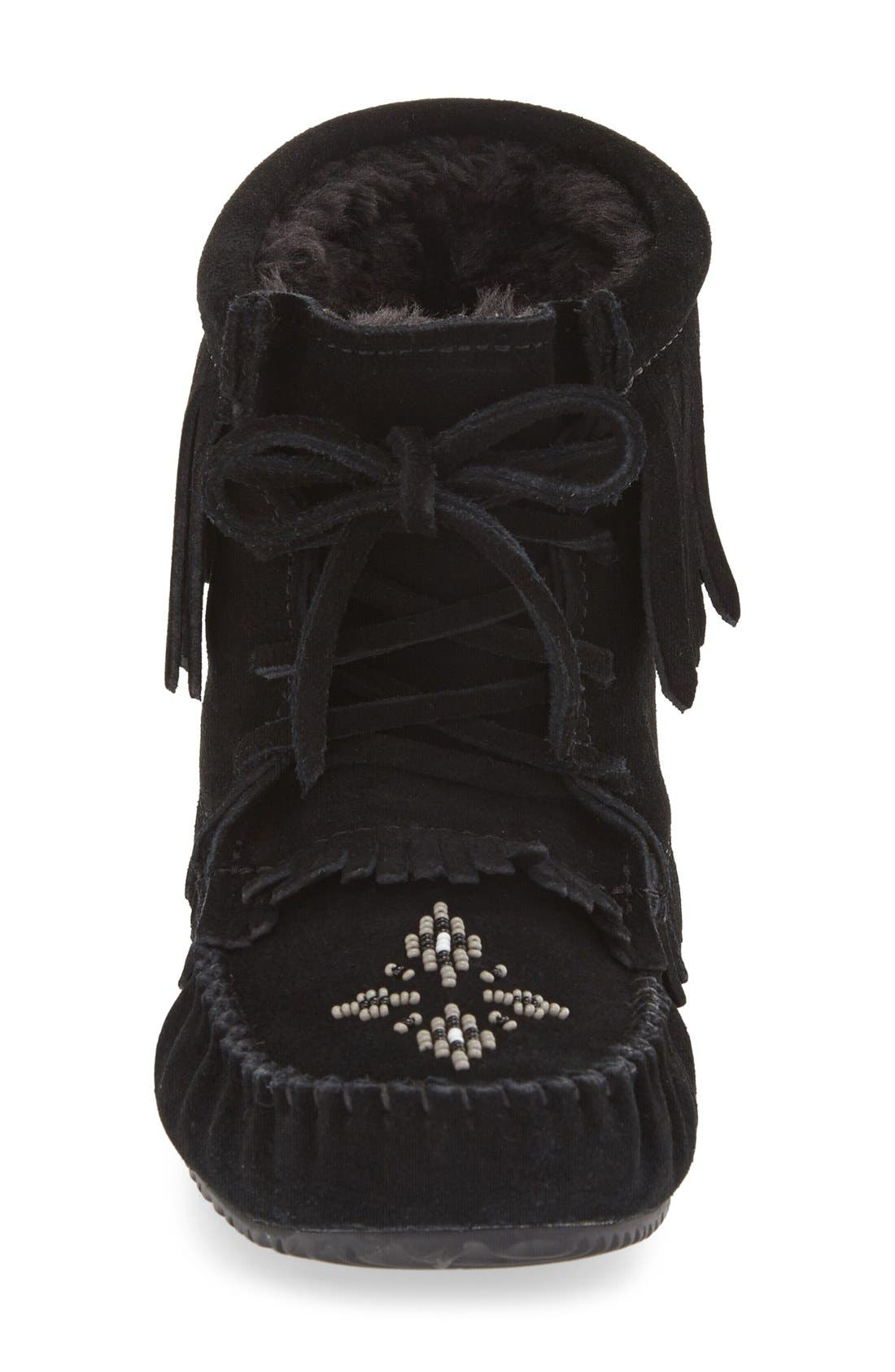 'Harvester' Moccasin,                             Alternate thumbnail 3, color,                             Black Suede