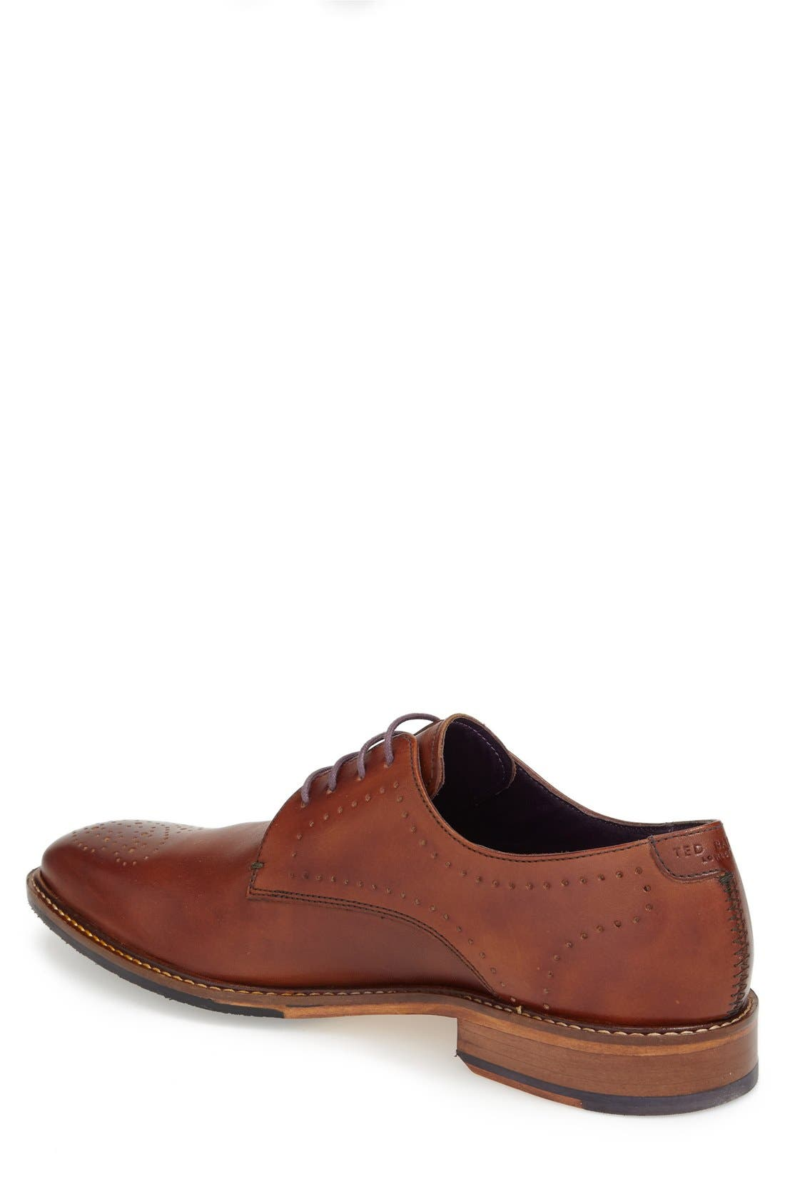 'Marar' Medallion Toe Derby,                             Alternate thumbnail 2, color,                             Tan