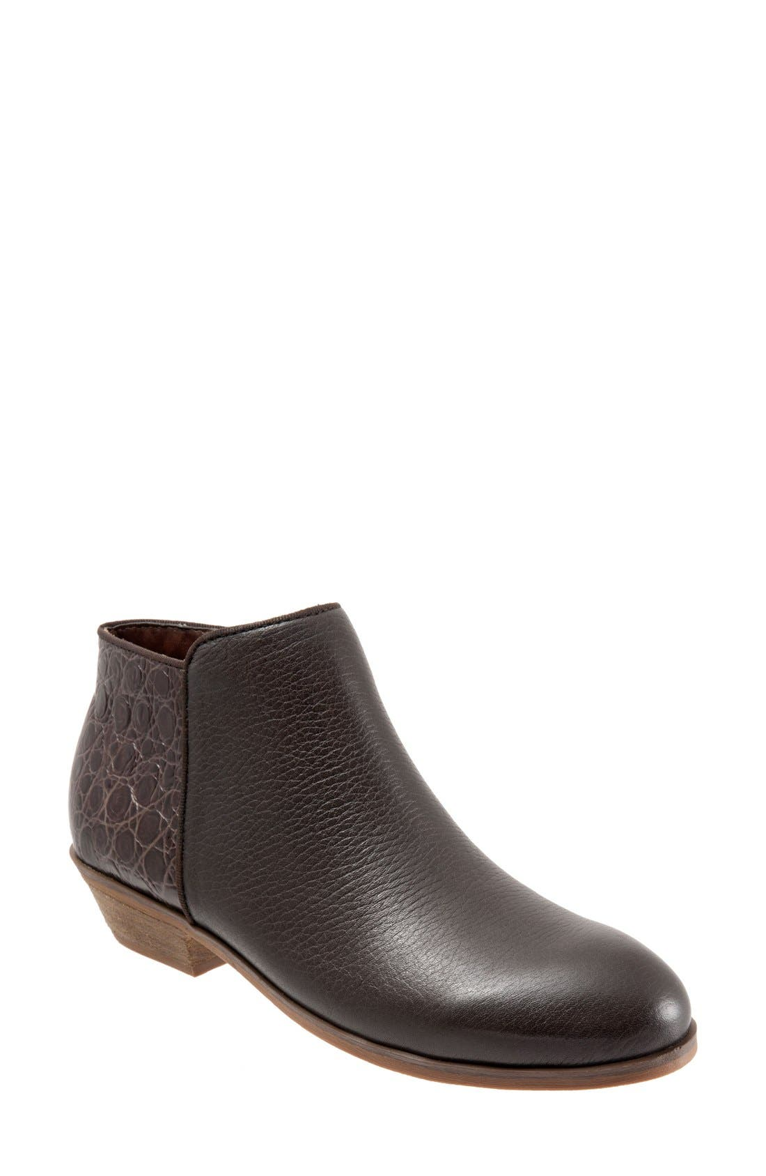 'Rocklin' Bootie,                             Main thumbnail 1, color,                             Brown Croco Leather