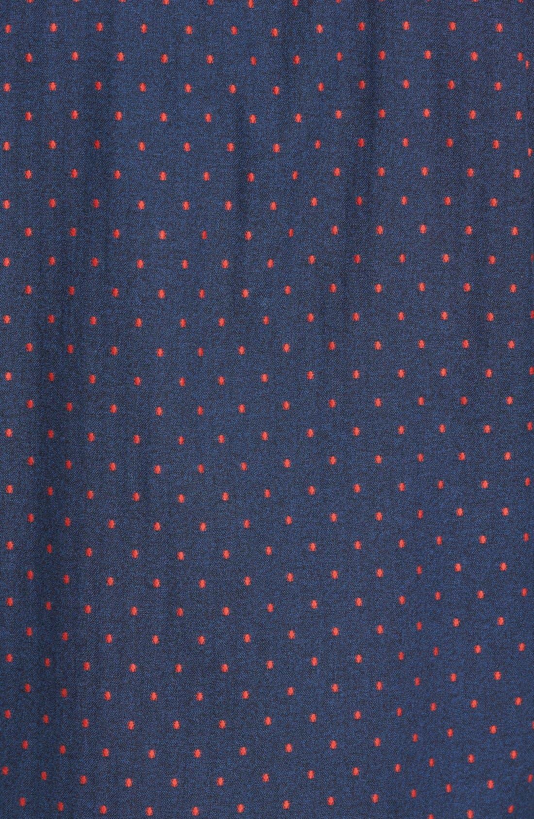 Annaby Sports Fit Dot Sport Shirt,                             Alternate thumbnail 5, color,                             Royal