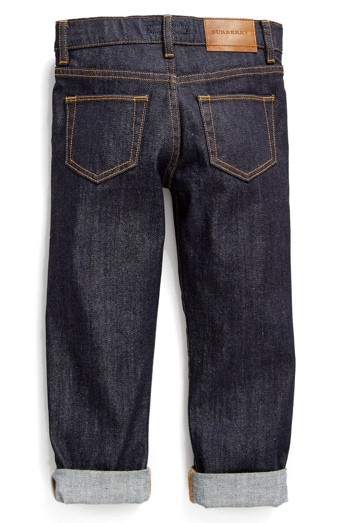 Alternate Image 2  - Burberry Skinny Fit Jeans (Little Boys & Big Boys)