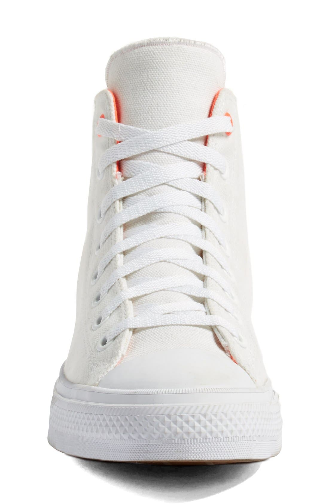 Chuck Taylor<sup>®</sup> All Star<sup>®</sup> II 'Shield' Water Repellent High Top Sneaker,                             Alternate thumbnail 3, color,                             White/ Lava/ Gum