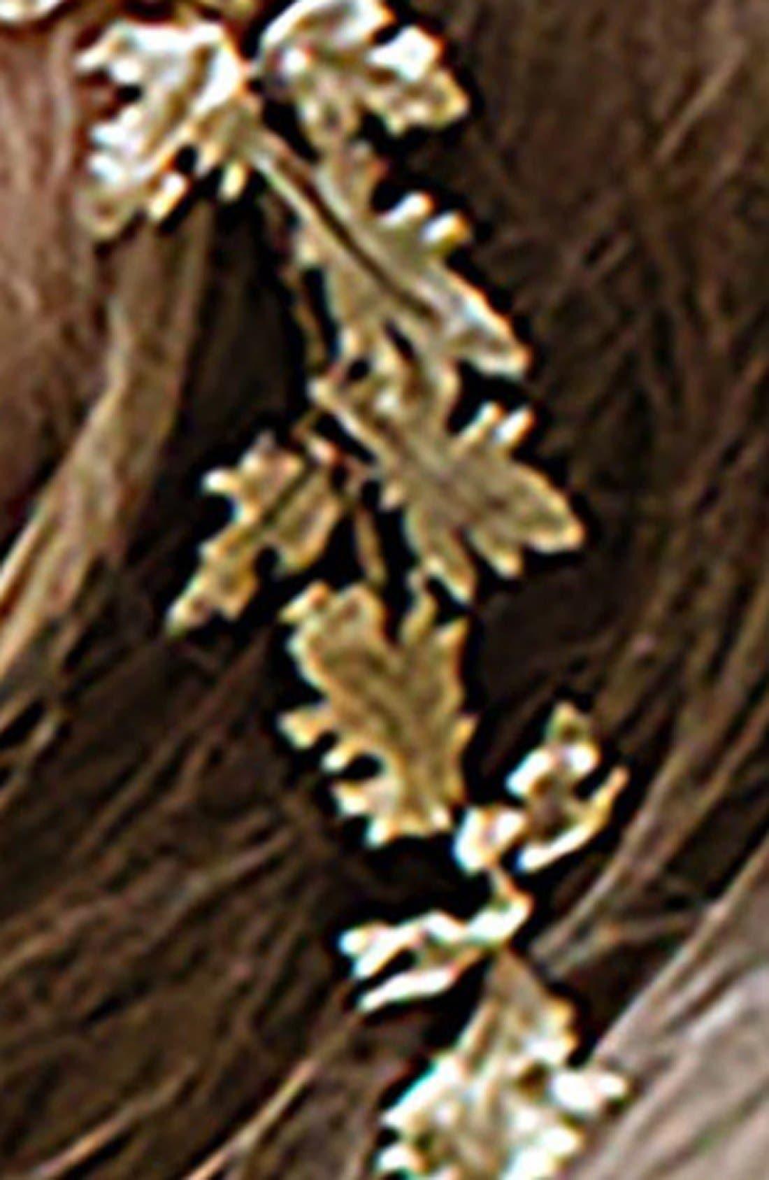Alternate Image 3  - Brides & Hairpins Paula Grecian Leaf Halo & Sash