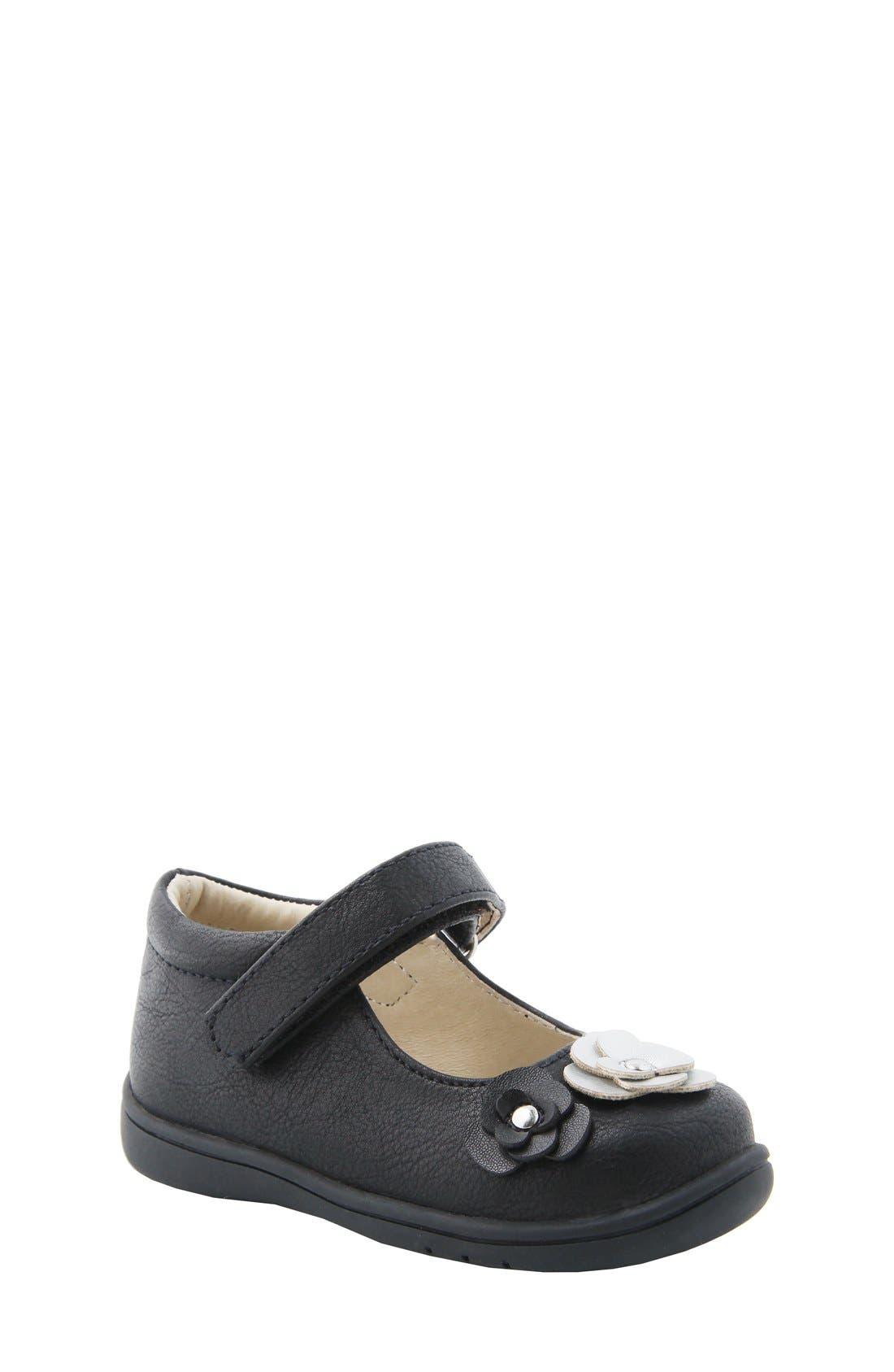 Nina Mary Jane Flat,                         Main,                         color, Black Tumbled