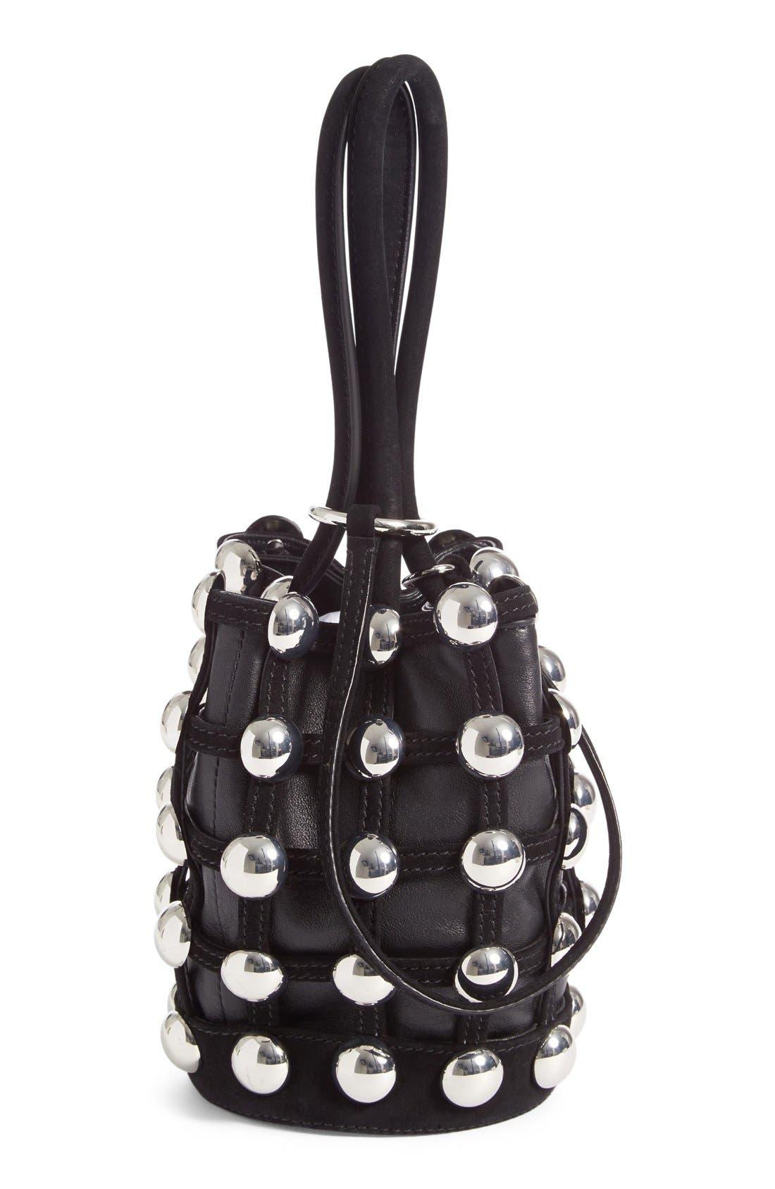 Alternate Image 3  - Alexander Wang Mini Roxy Studded Suede Bucket Bag