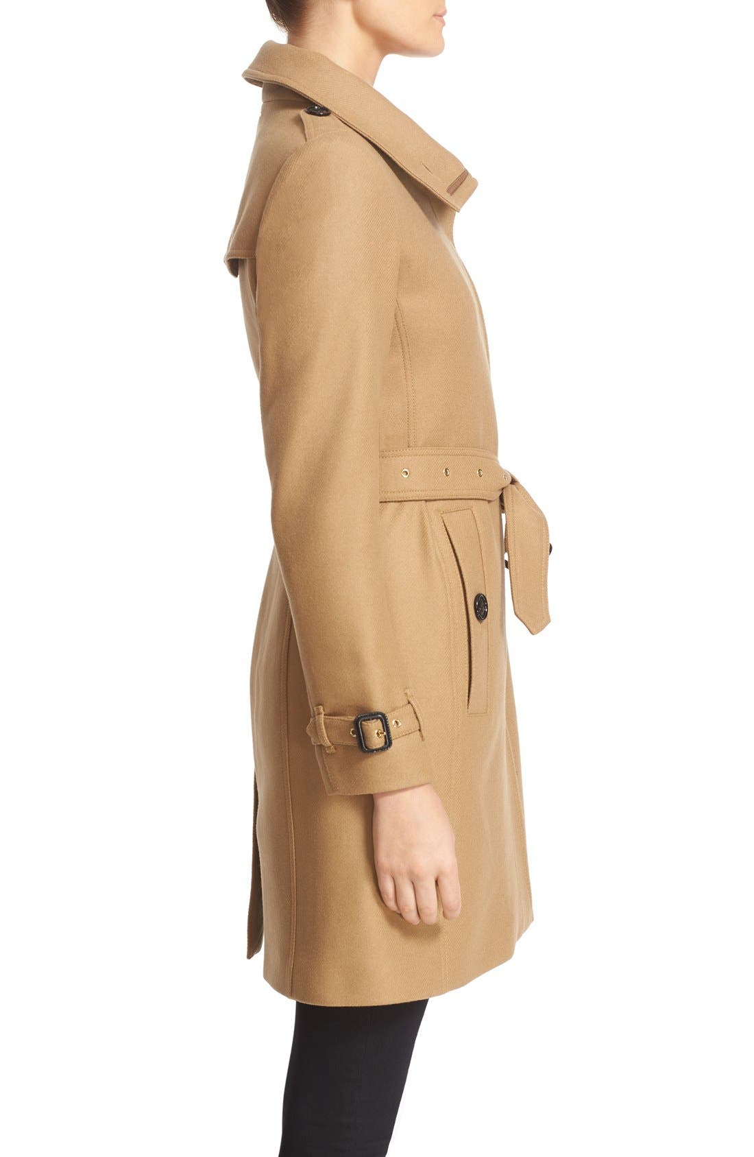 Alternate Image 5  - Burberry Gibbsmoore Funnel Collar Trench Coat (Nordstrom Exclusive)