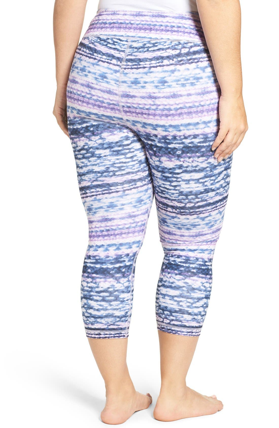 Alternate Image 2  - Zella Print Crop Leggings (Plus Size)
