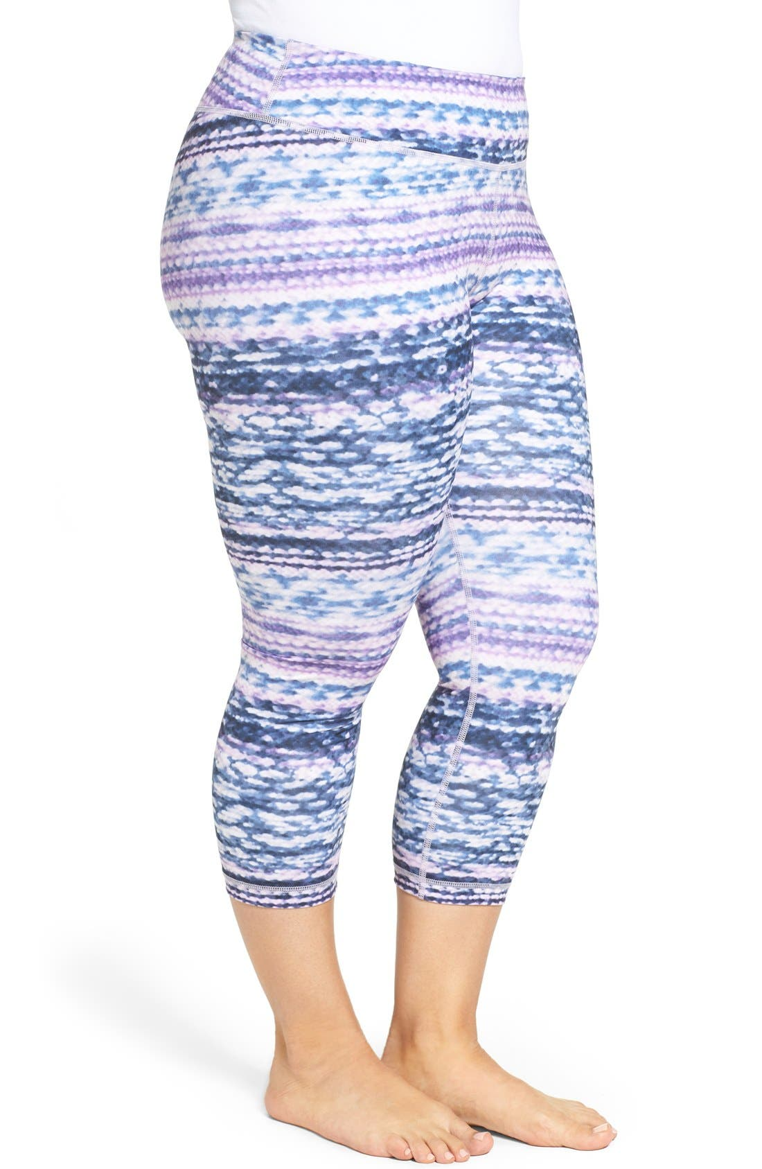 Alternate Image 3  - Zella Print Crop Leggings (Plus Size)