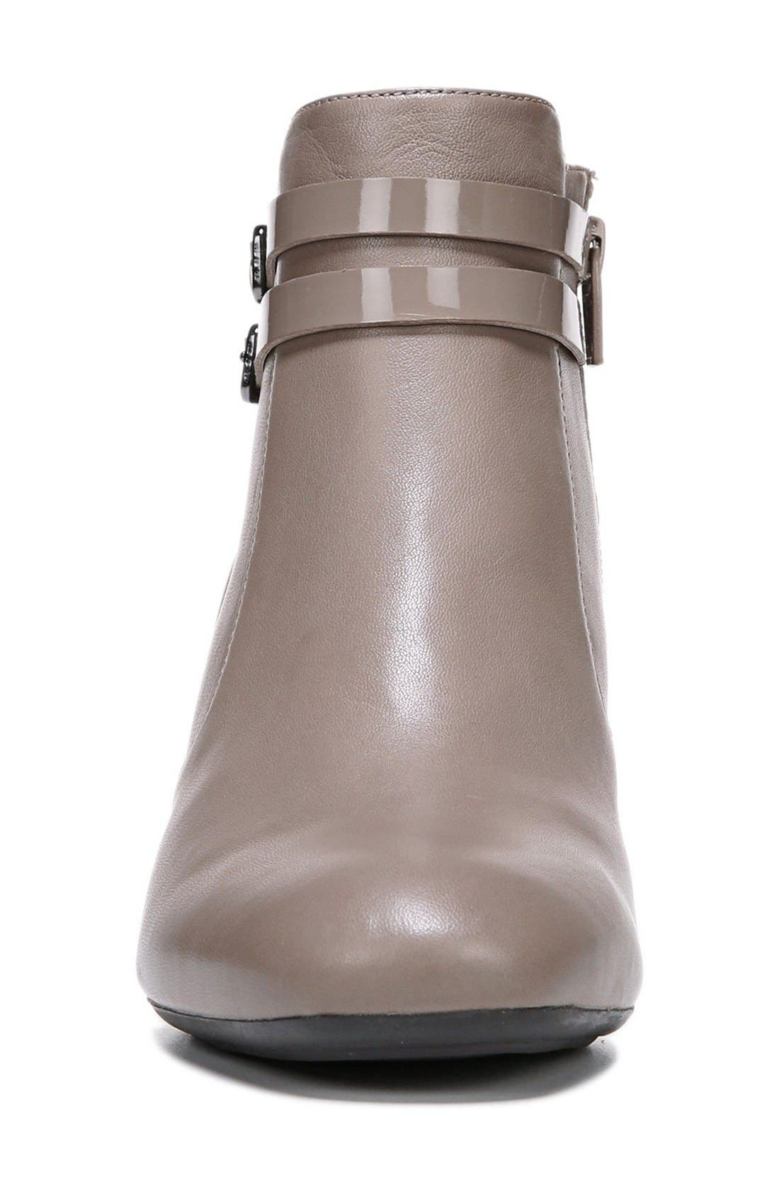 'Nikole' Wedge Bootie,                             Alternate thumbnail 3, color,                             Taupe Leather