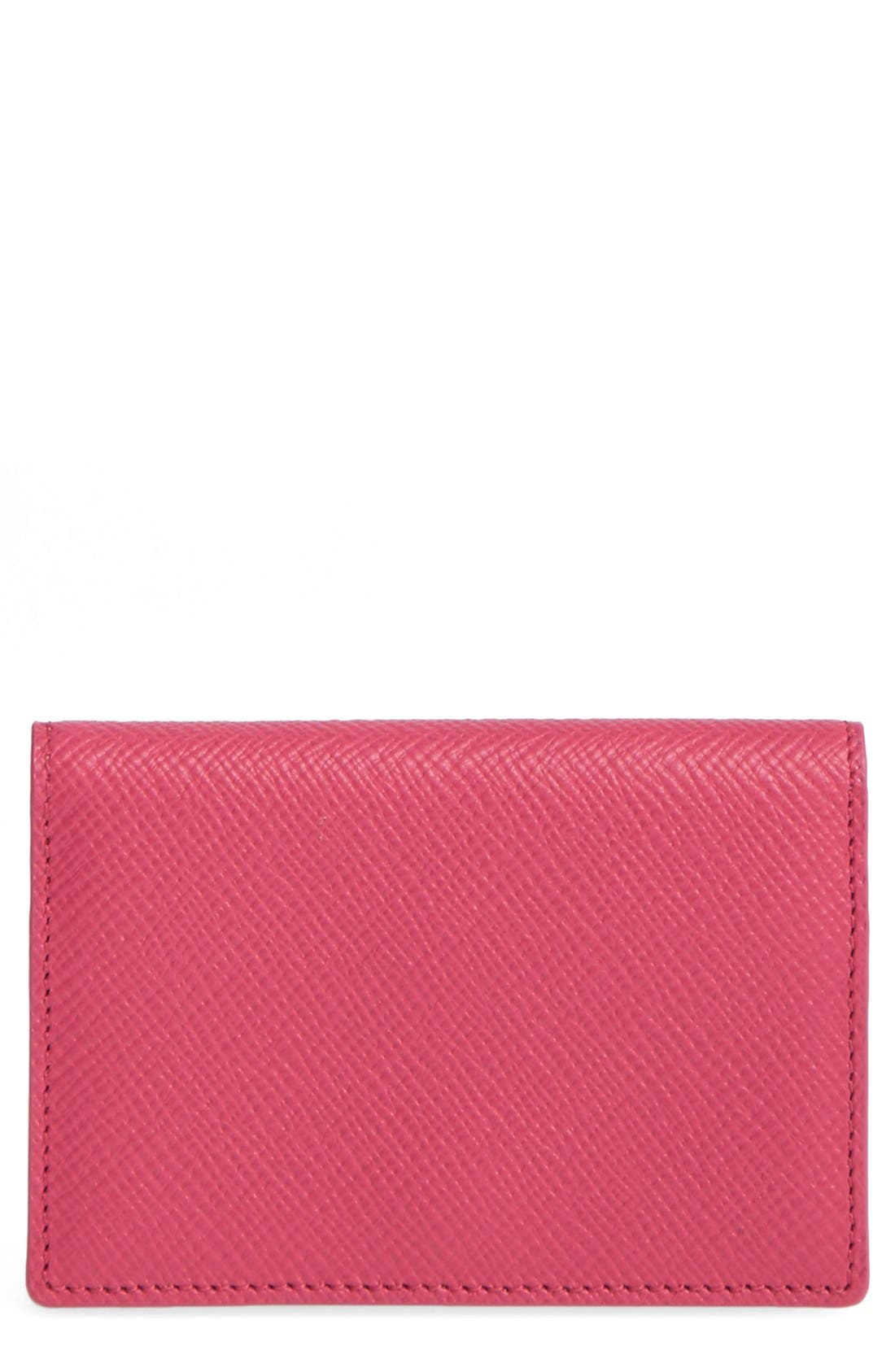 'Panama' Card Case,                         Main,                         color, Fuchsia
