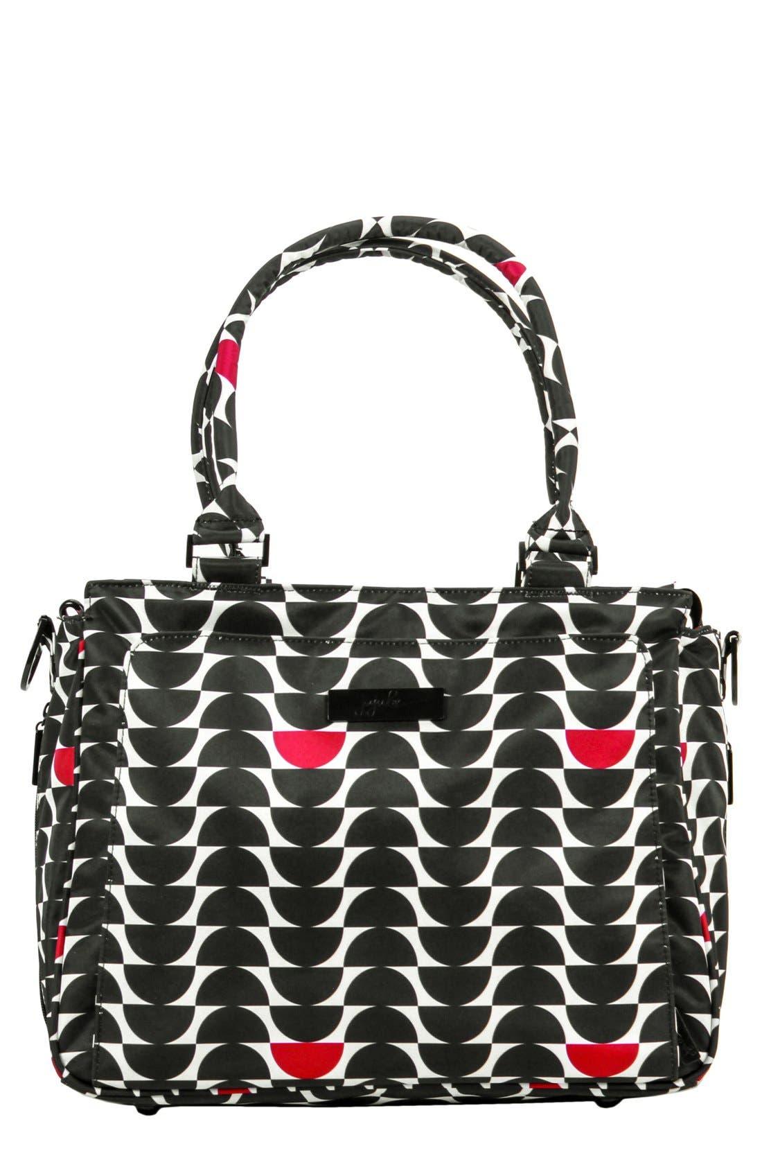 'Be Classy' Diaper Bag,                         Main,                         color, Black Widow