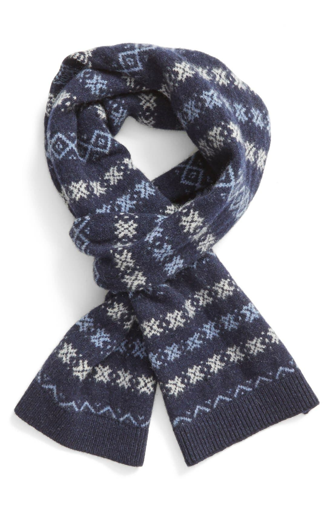 Barbour 'Martingale' Fair Isle Wool Scarf | Nordstrom