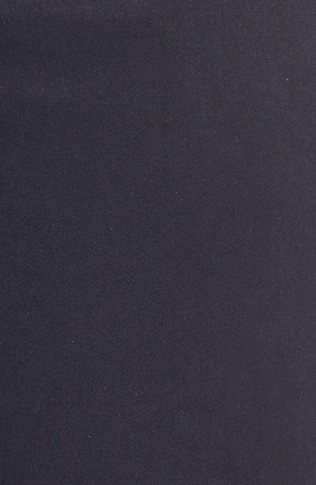 High Waist Ankle Super Skinny Jeans,                             Alternate thumbnail 5, color,                             Dark Navy