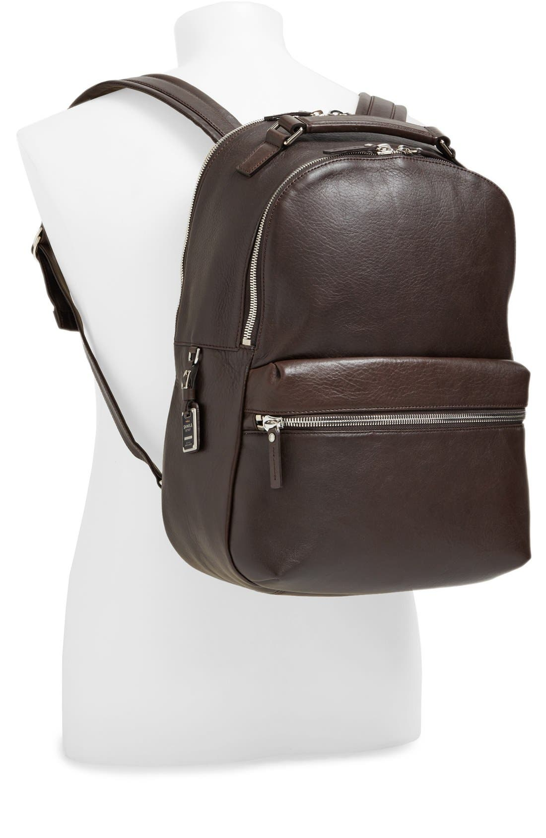 Alternate Image 2  - Shinola Runwell Leather Laptop Backpack
