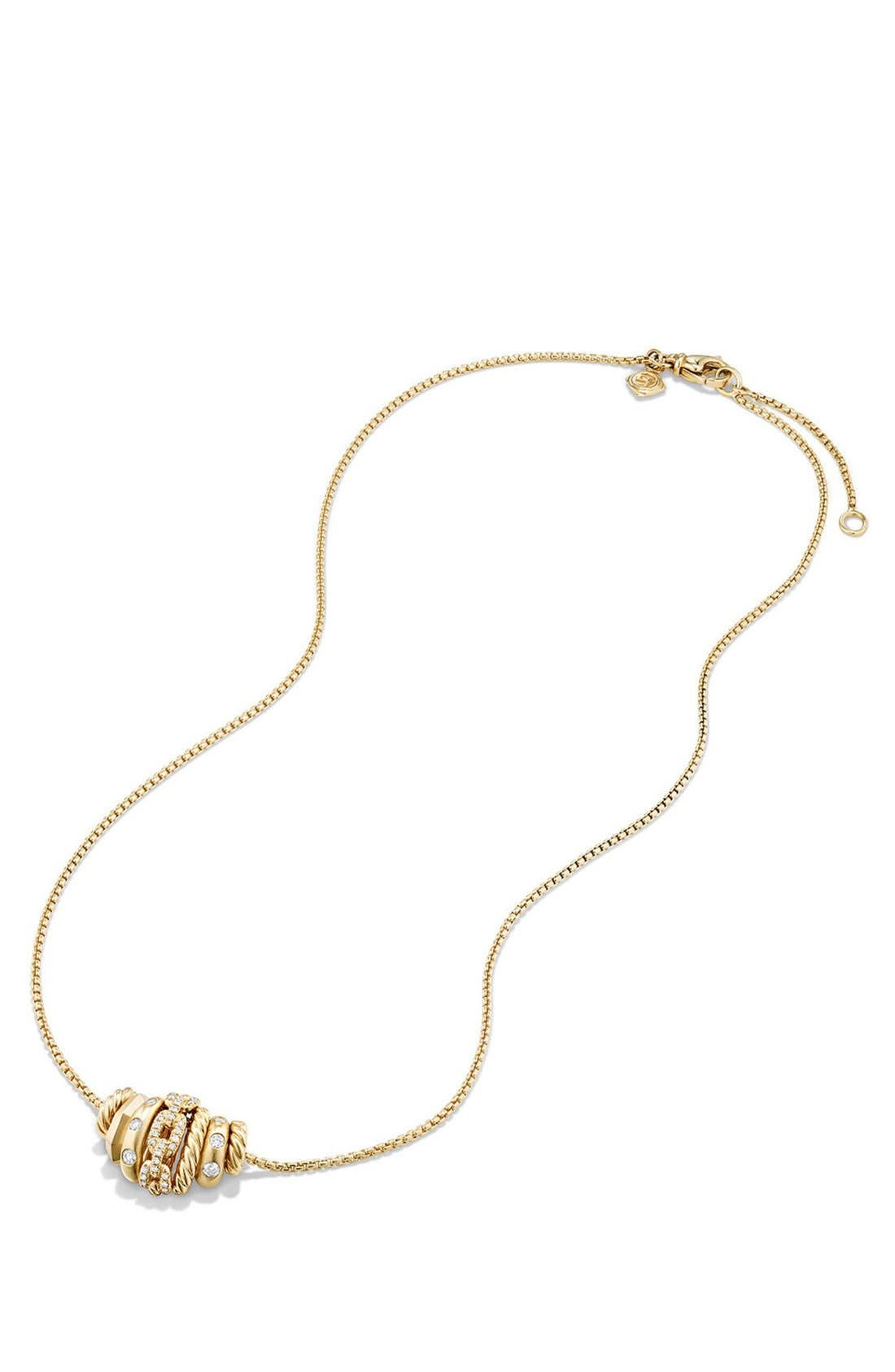 'Stax' Pendant Necklace with Diamonds in 18K Gold,                             Alternate thumbnail 2, color,                             Yellow Gold