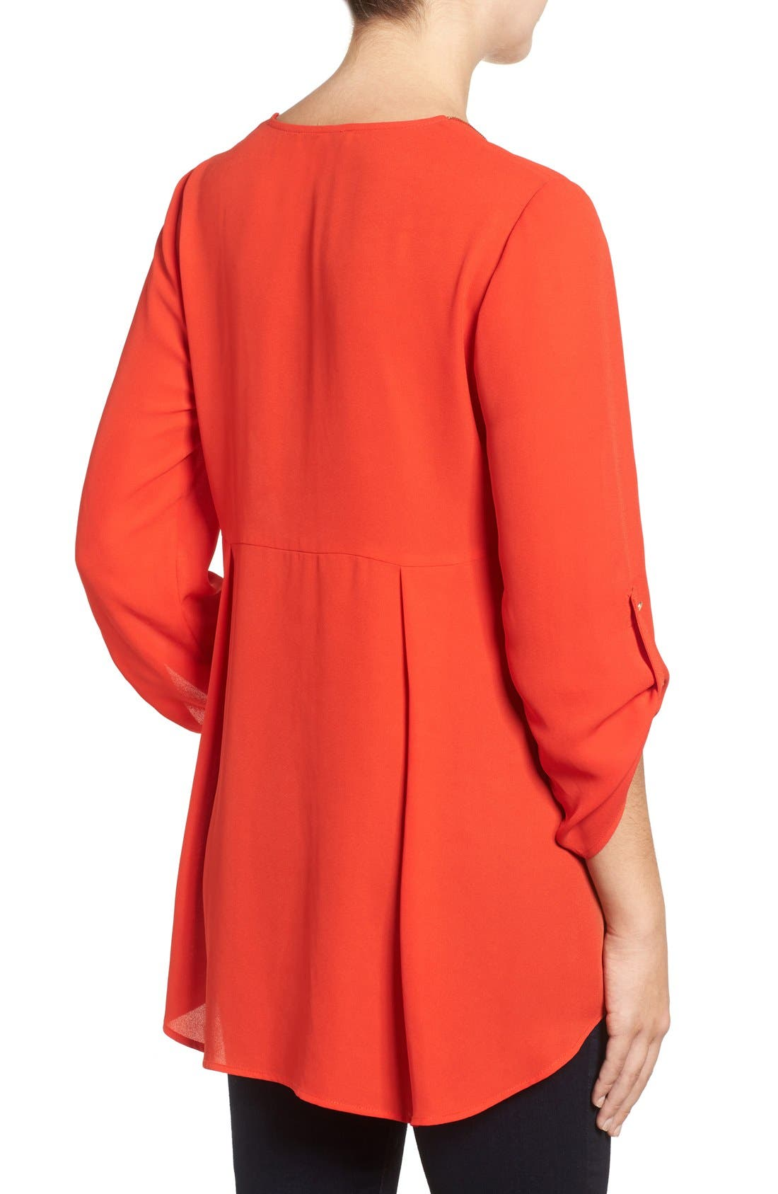 Alternate Image 2  - Chaus Zip V-Neck Blouse