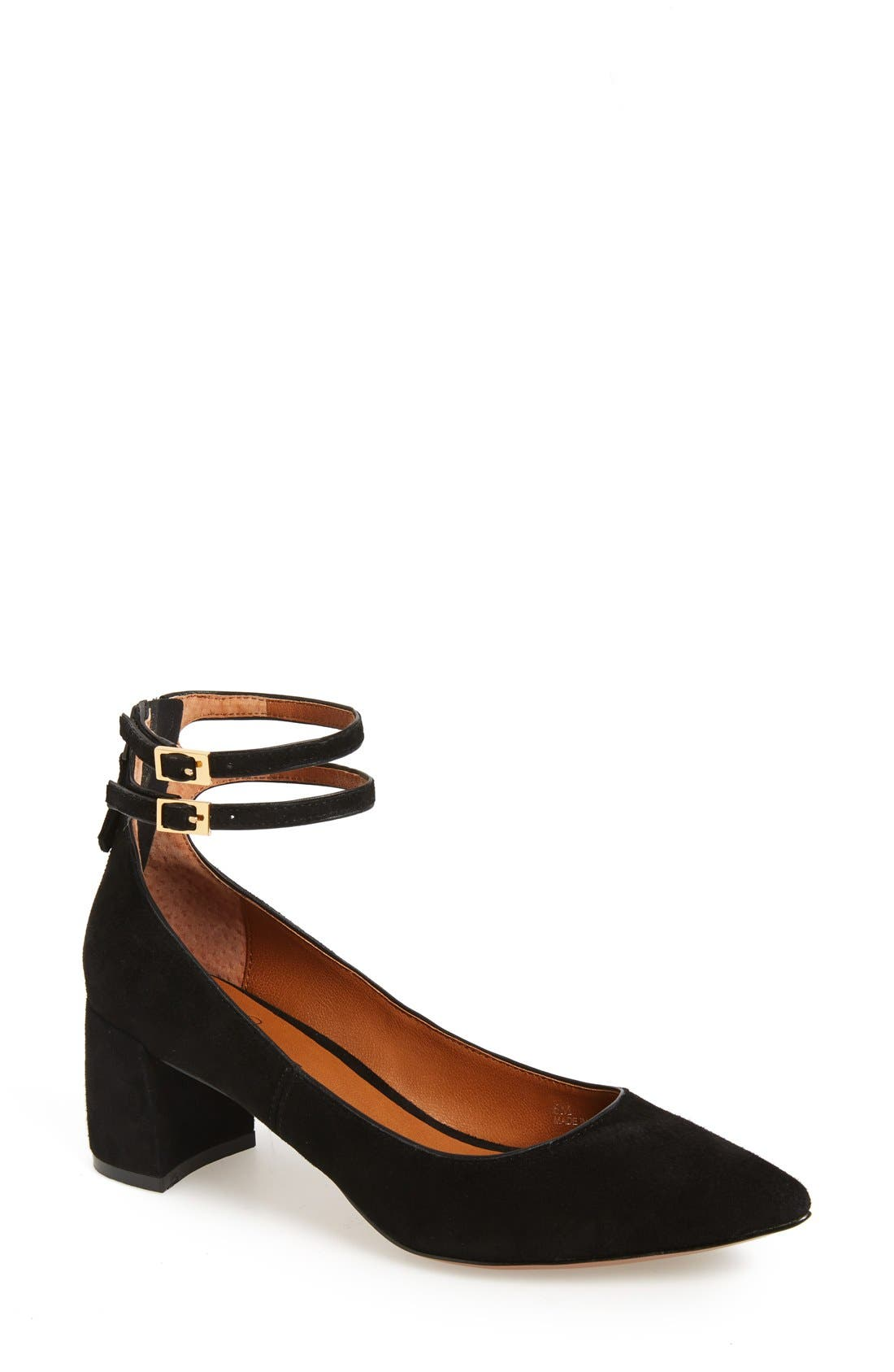 LINEA PAOLO Noel Pointy Toe Ankle Strap Pump