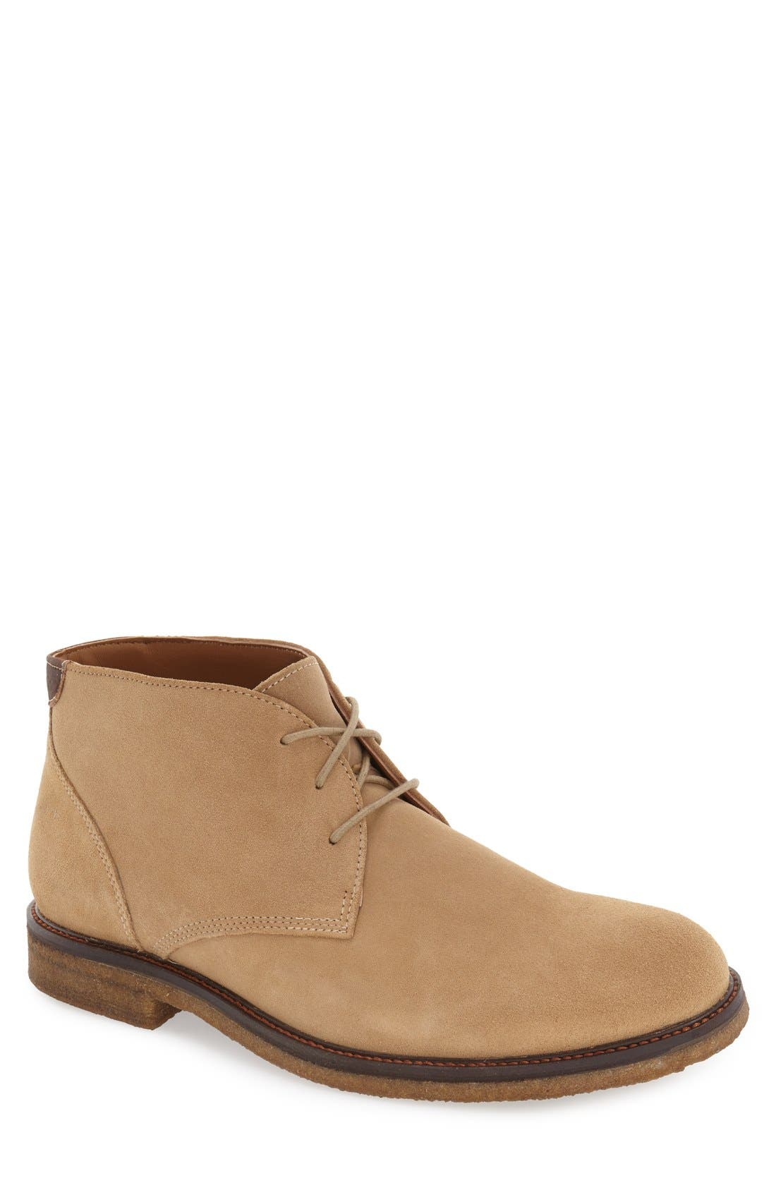 'Copeland' Suede Chukka Boot,                             Main thumbnail 1, color,                             Taupe