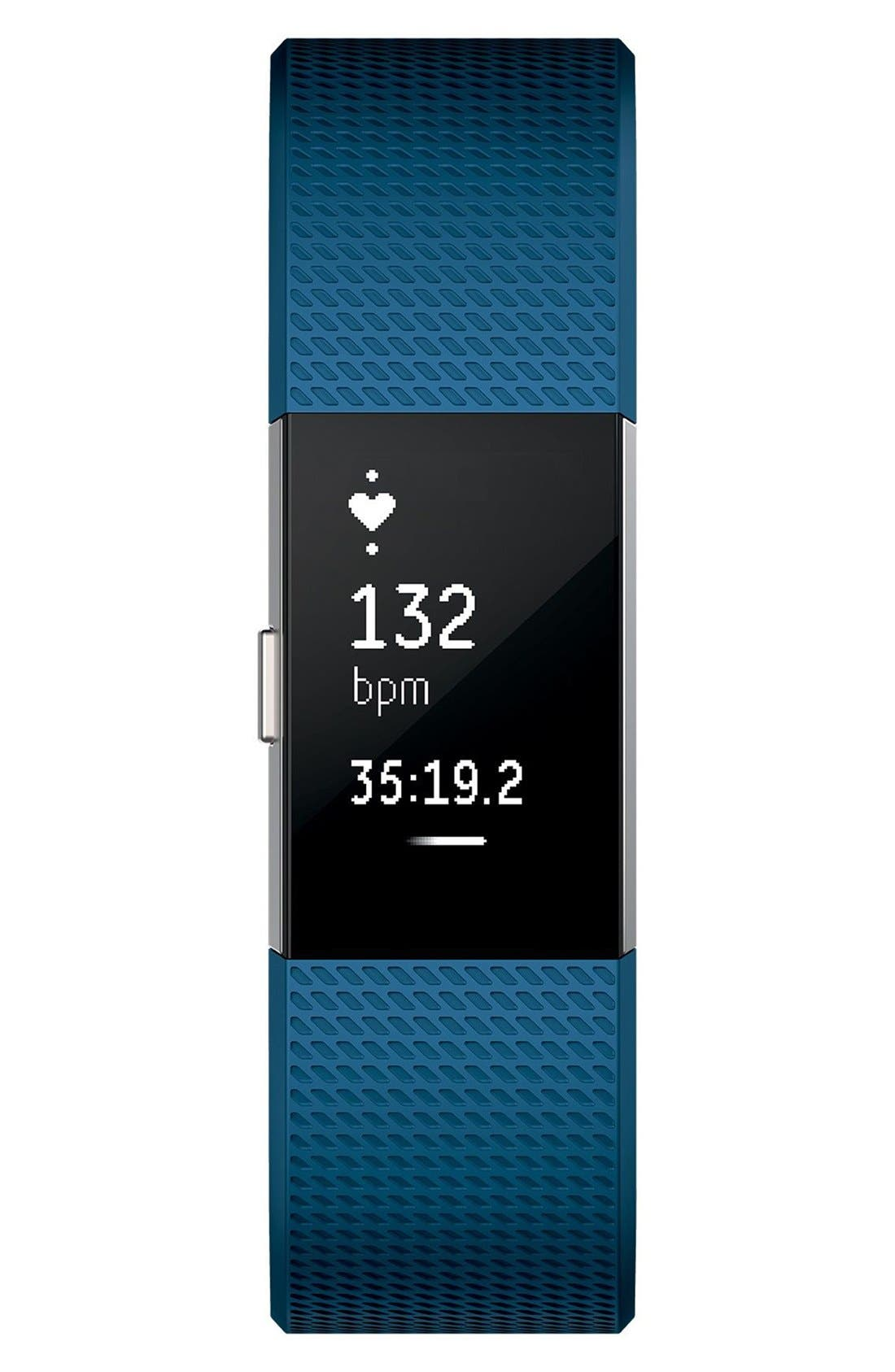 'Charge 2' Wireless Activity & Heart Rate Tracker,                             Alternate thumbnail 2, color,                             Blue