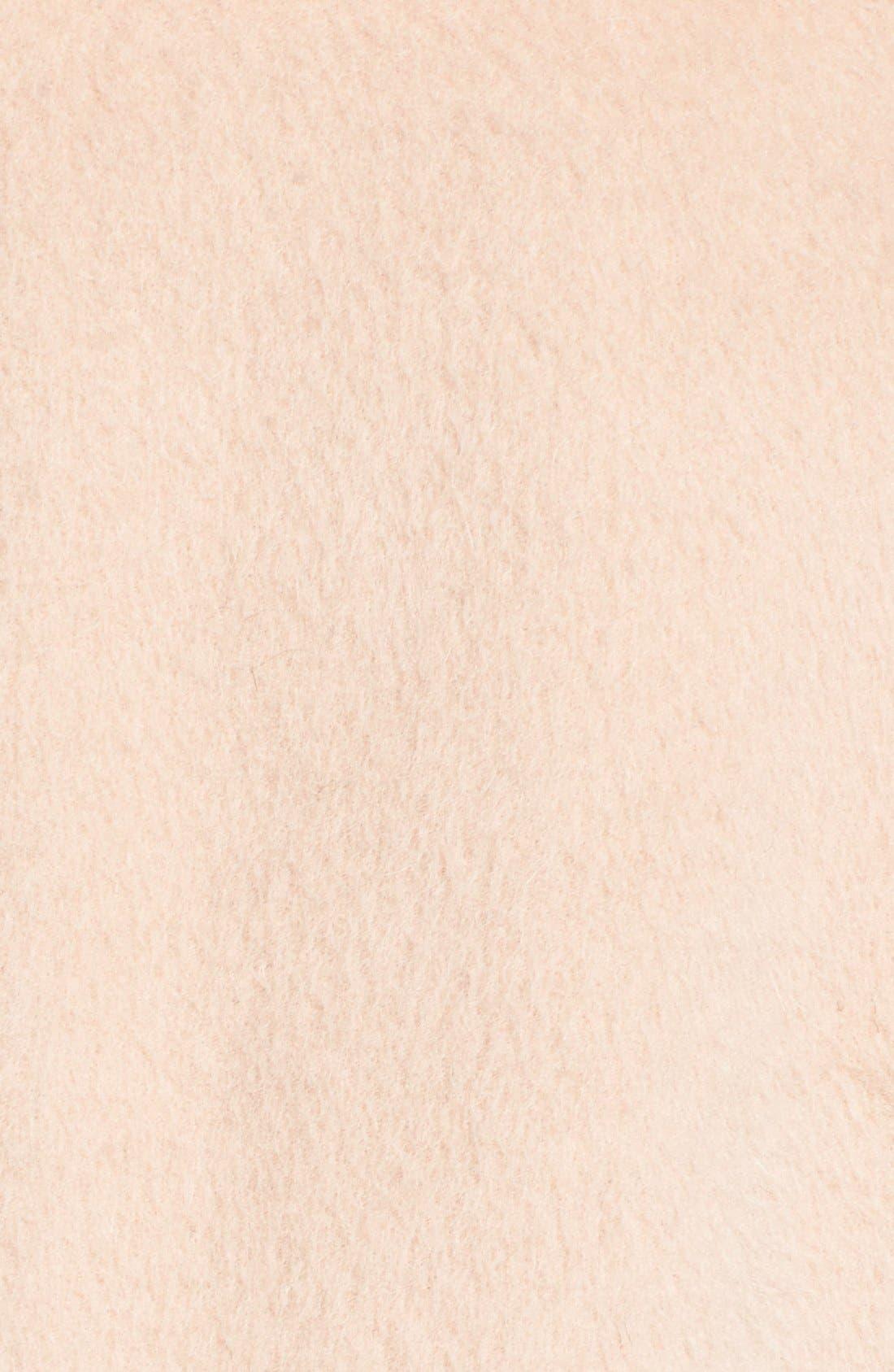 Alternate Image 5  - Diane von Furstenberg Genuine Fox Fur Trim Notch Collar Long Wool Blend Coat