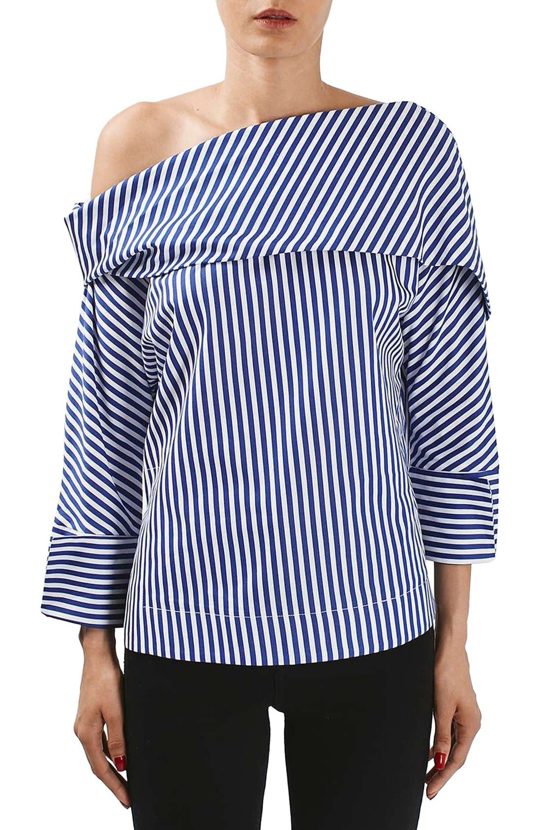 Alternate Image 1 Selected - Topshop Boutique Stripe Twist Top