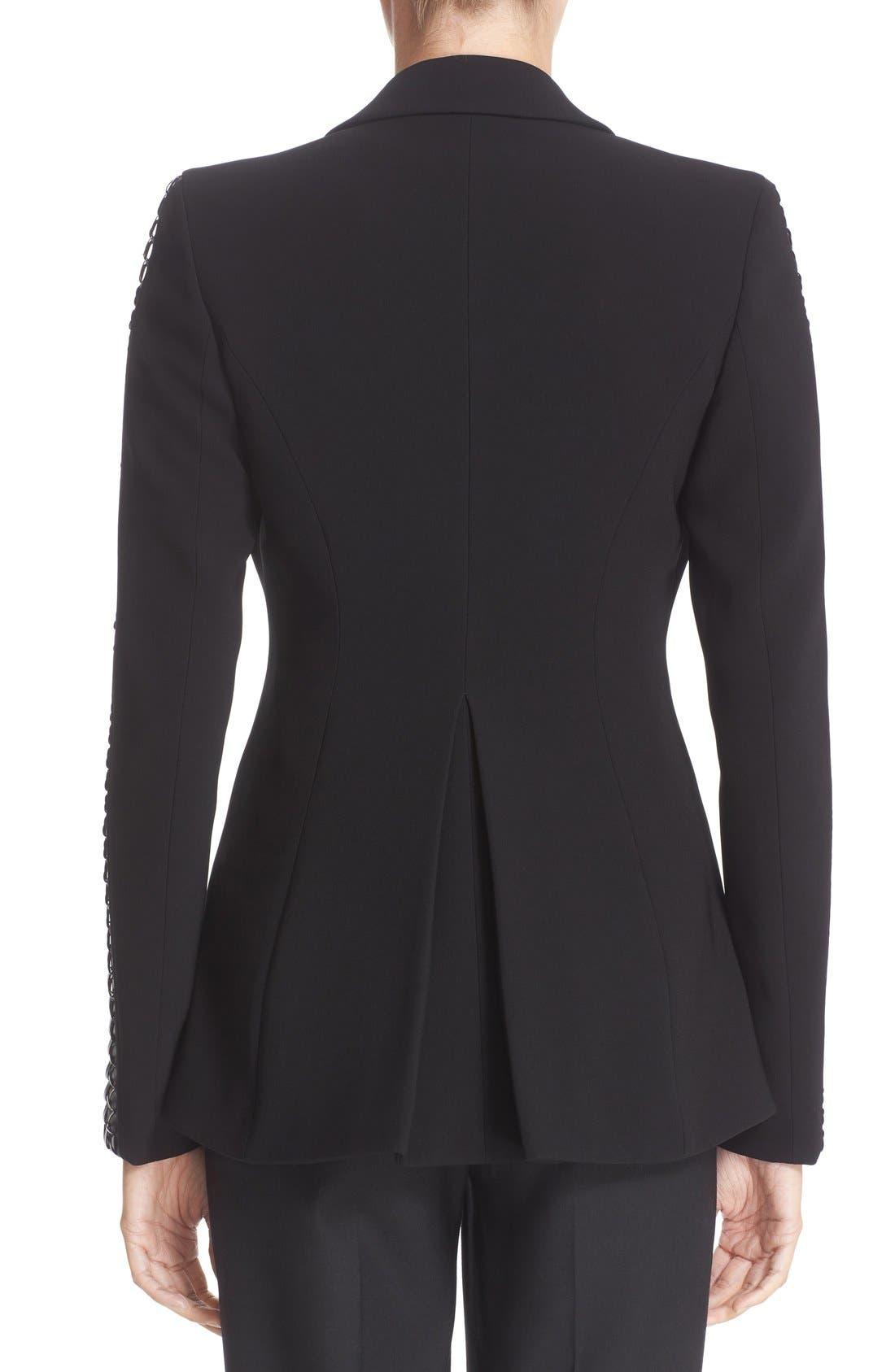 Acacia Lace Detail Jacket,                             Alternate thumbnail 2, color,                             Black
