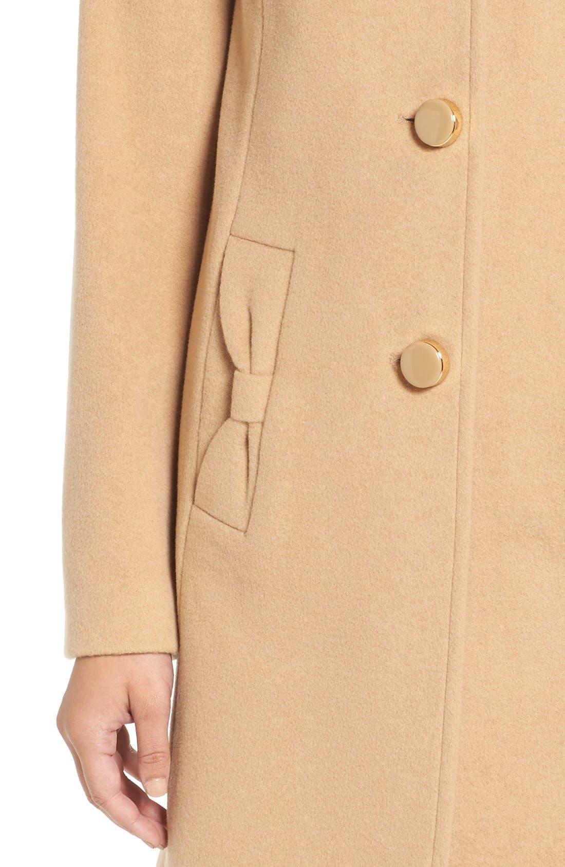 Alternate Image 4  - kate spade new york wool blend walking coat