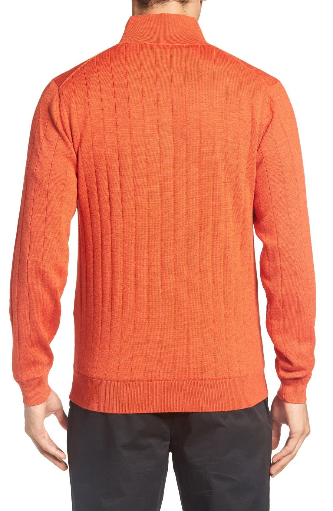 Alternate Image 2  - Bobby Jones Windproof Merino Wool Quarter Zip Sweater