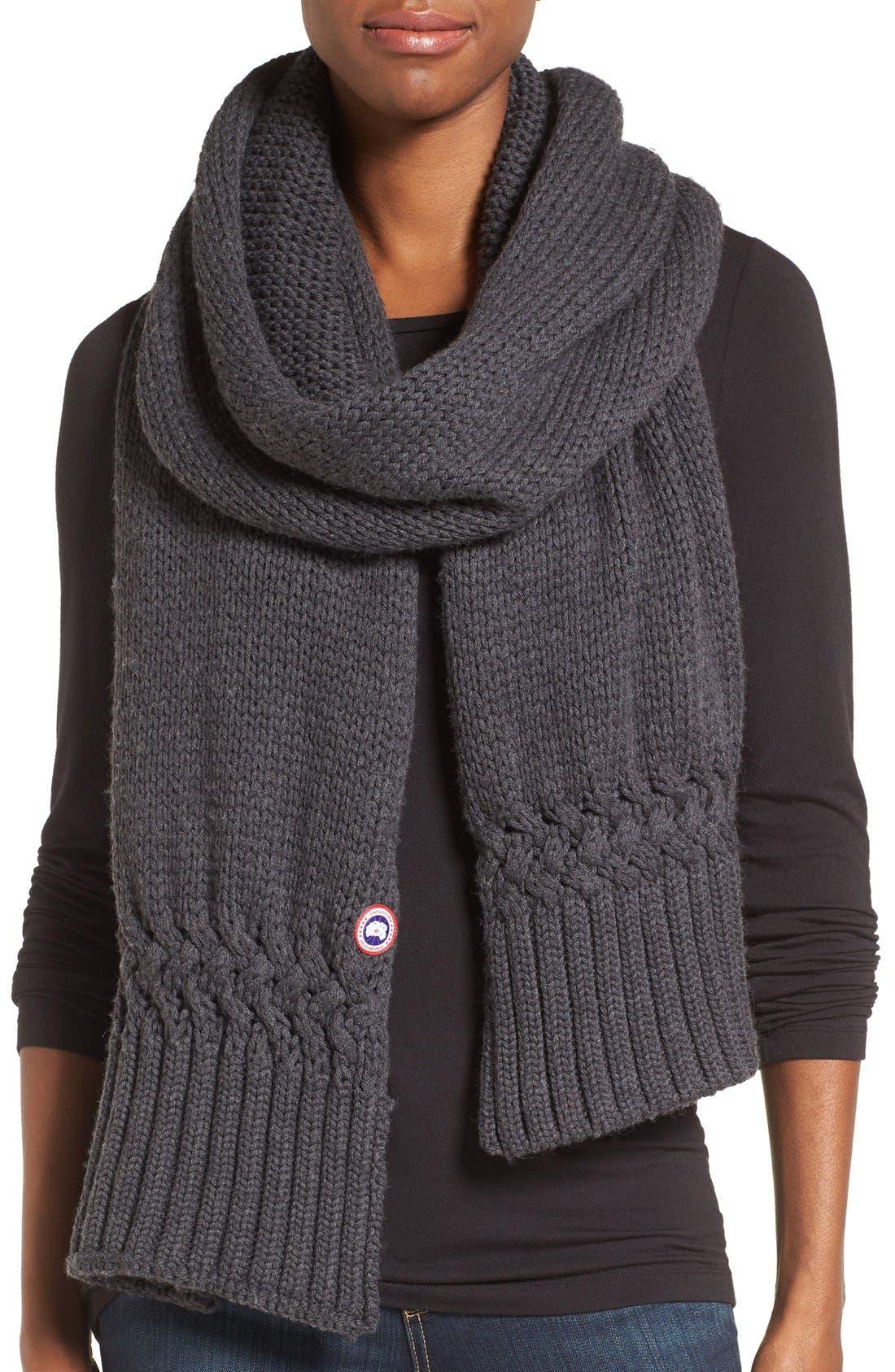 Canada Goose Knit Merino Wool Scarf