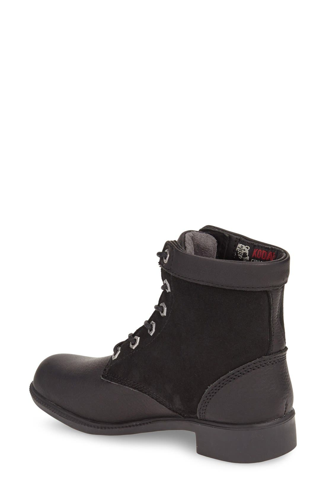 Original Waterproof Genuine Shearling Boot,                             Alternate thumbnail 2, color,                             Black Leather