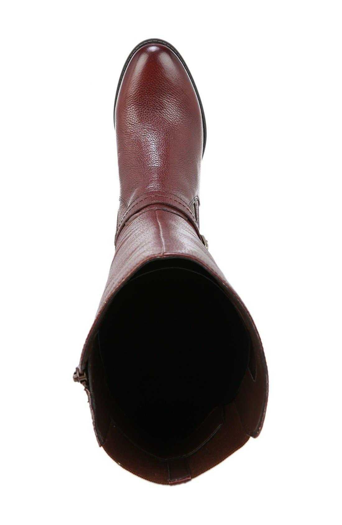 'Wynnie' Riding Boot,                             Alternate thumbnail 3, color,                             Brown Leather