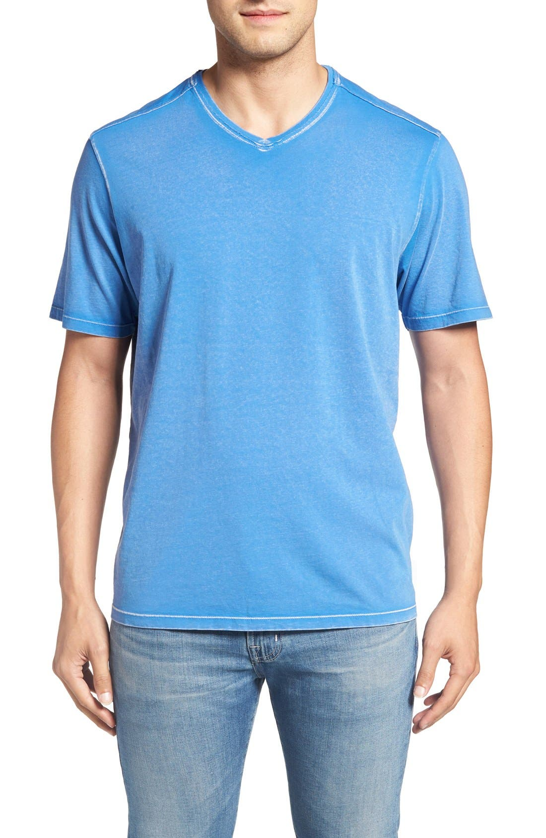 'Kahuna' V-Neck T-Shirt,                             Main thumbnail 1, color,                             Palace Blue