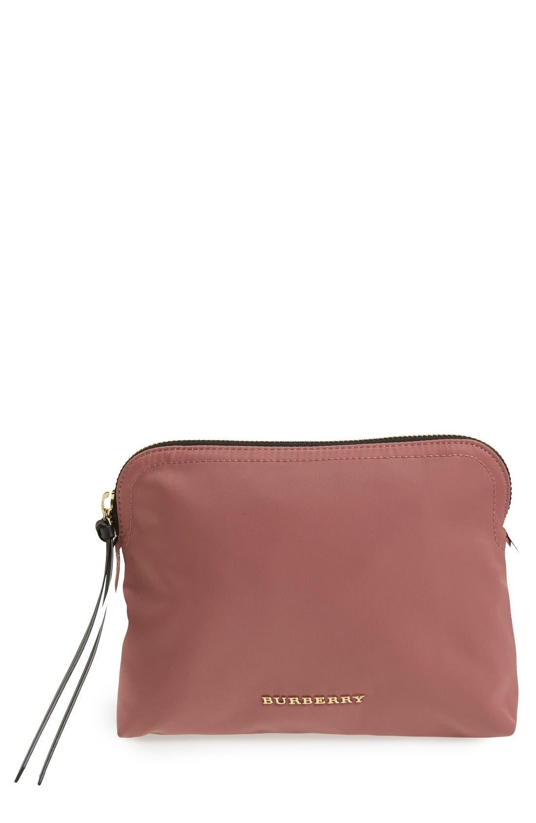 Large Nylon Pouch,                         Main,                         color, Mauve Pink
