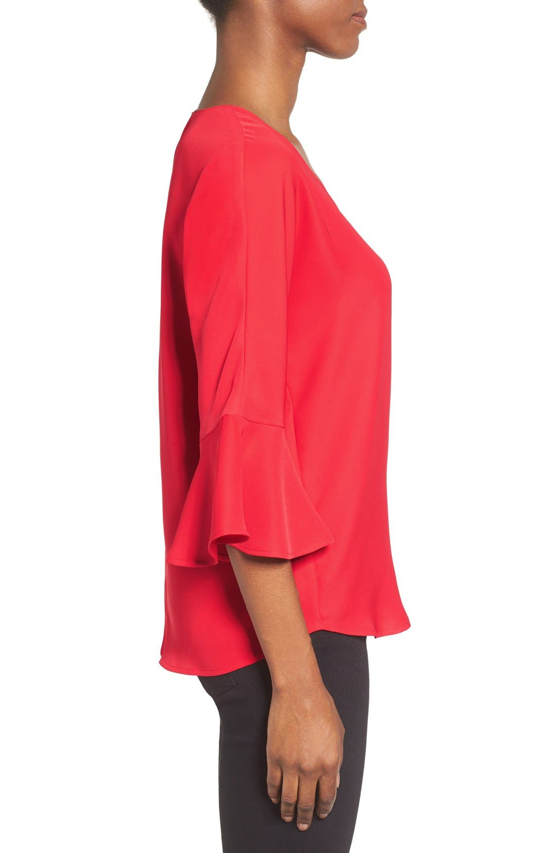 Alternate Image 3  - Pleione Bell Sleeve V-Neck Top