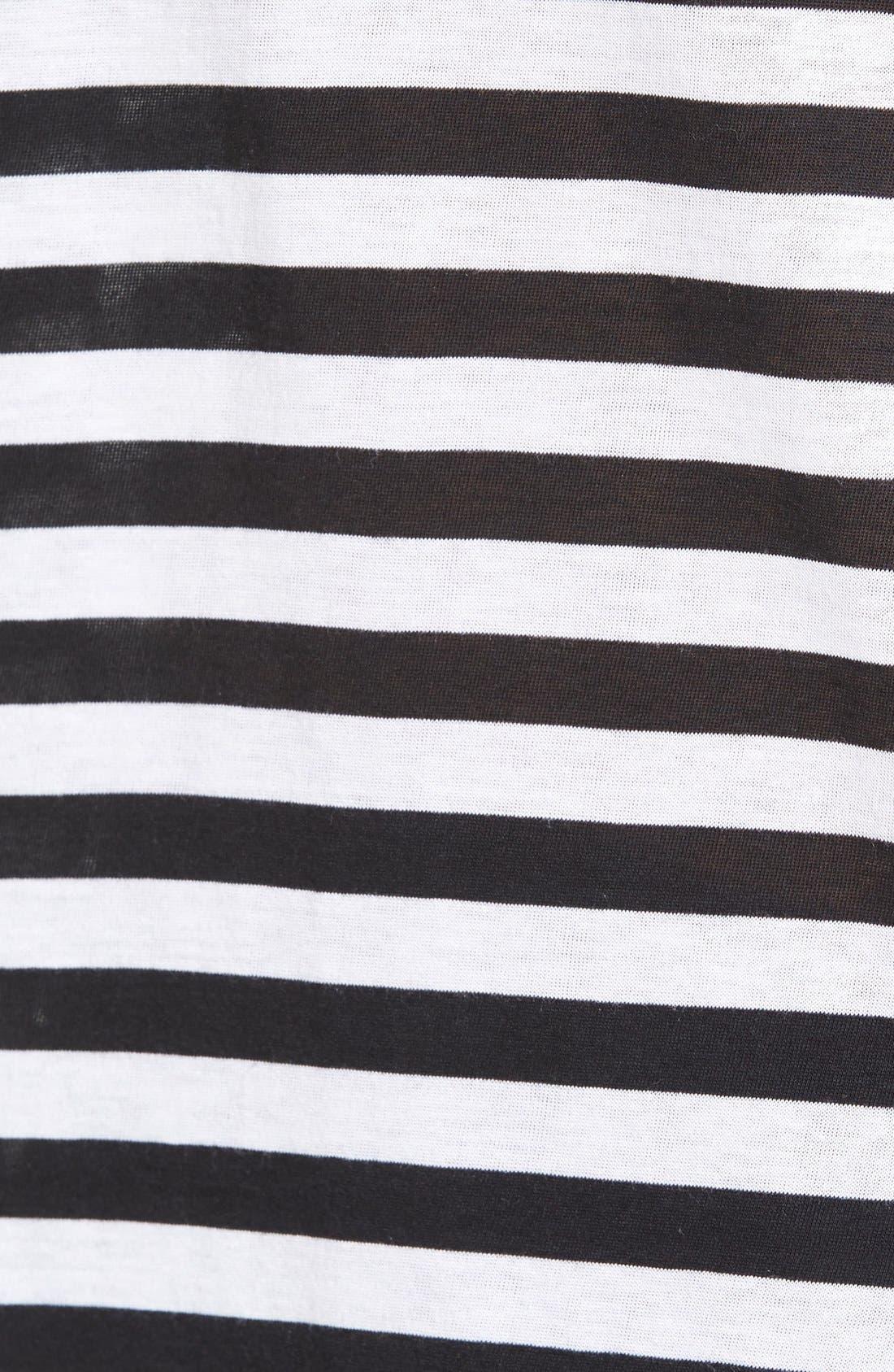 Alternate Image 5  - Hinge Slouchy Stripe Boatneck Tee