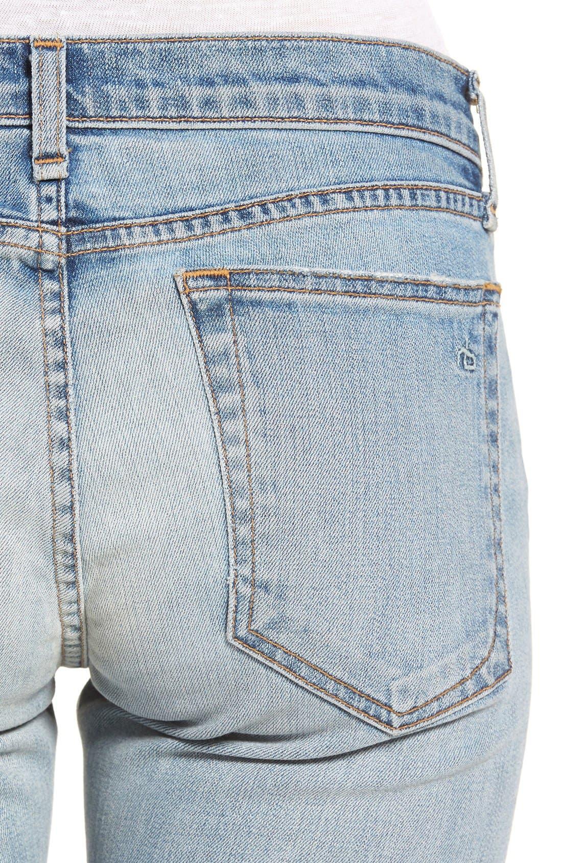 Alternate Image 4  - rag & bone/JEAN 'The Dre' Slim Boyfriend Jeans