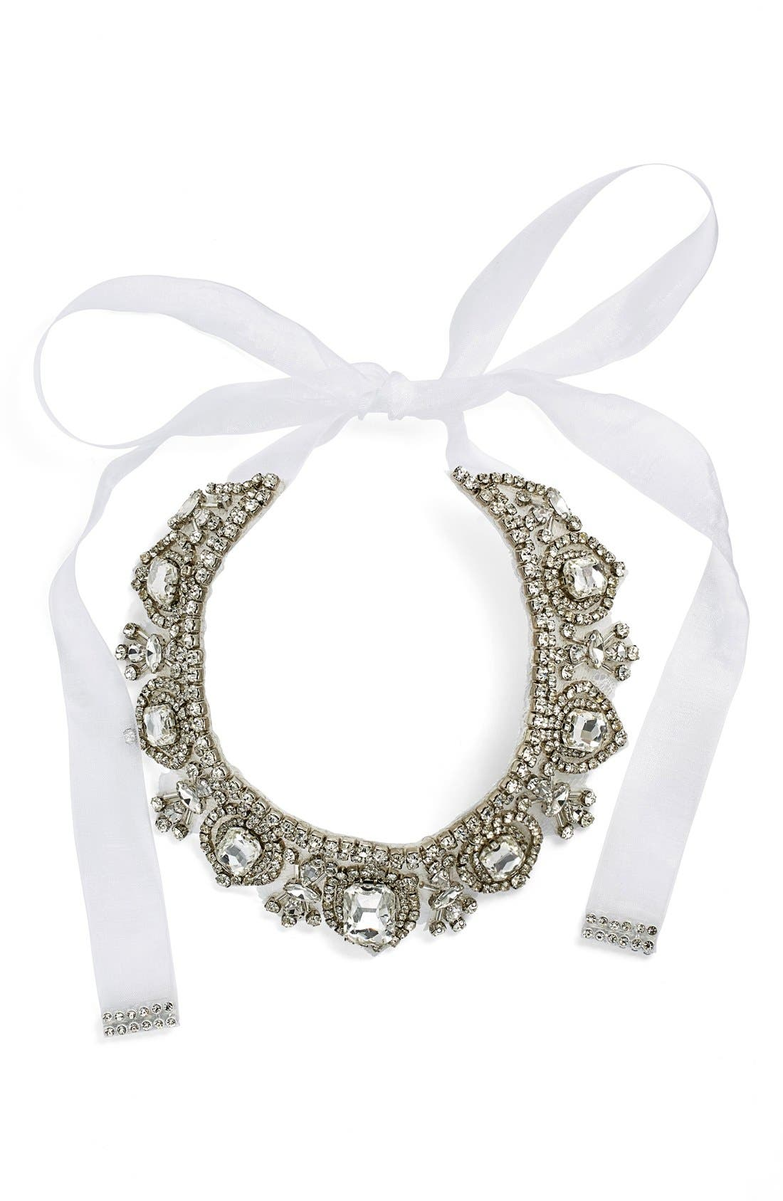 'Glamorous' Tie Collar Necklace,                         Main,                         color, Ivory