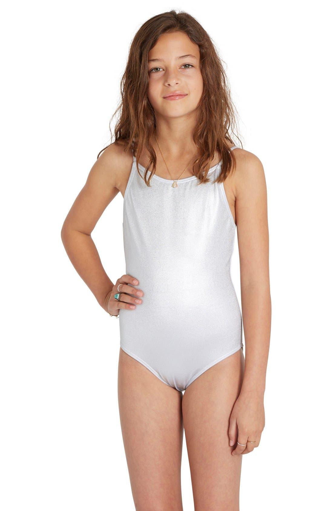 Billabong 'Sol Searcher' One-Piece Swimsuit (Little Girls