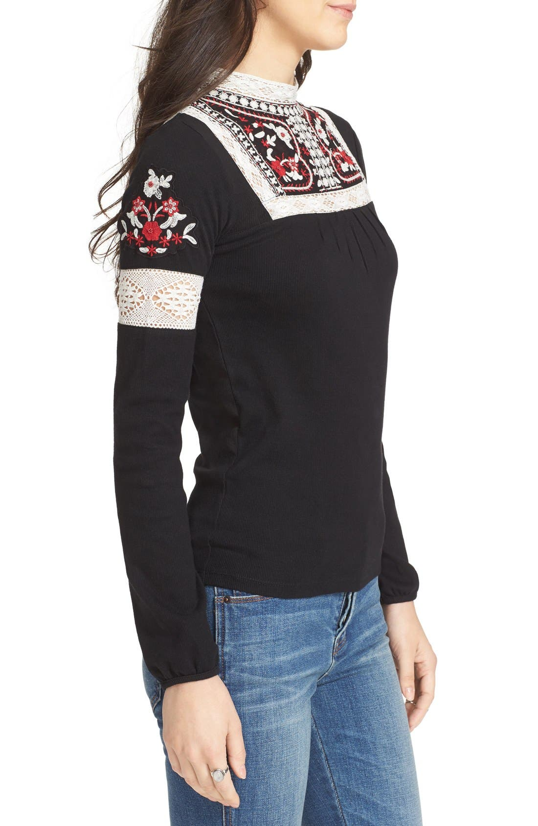 Alternate Image 3  - Free People Cozy On Up Embroidered Top