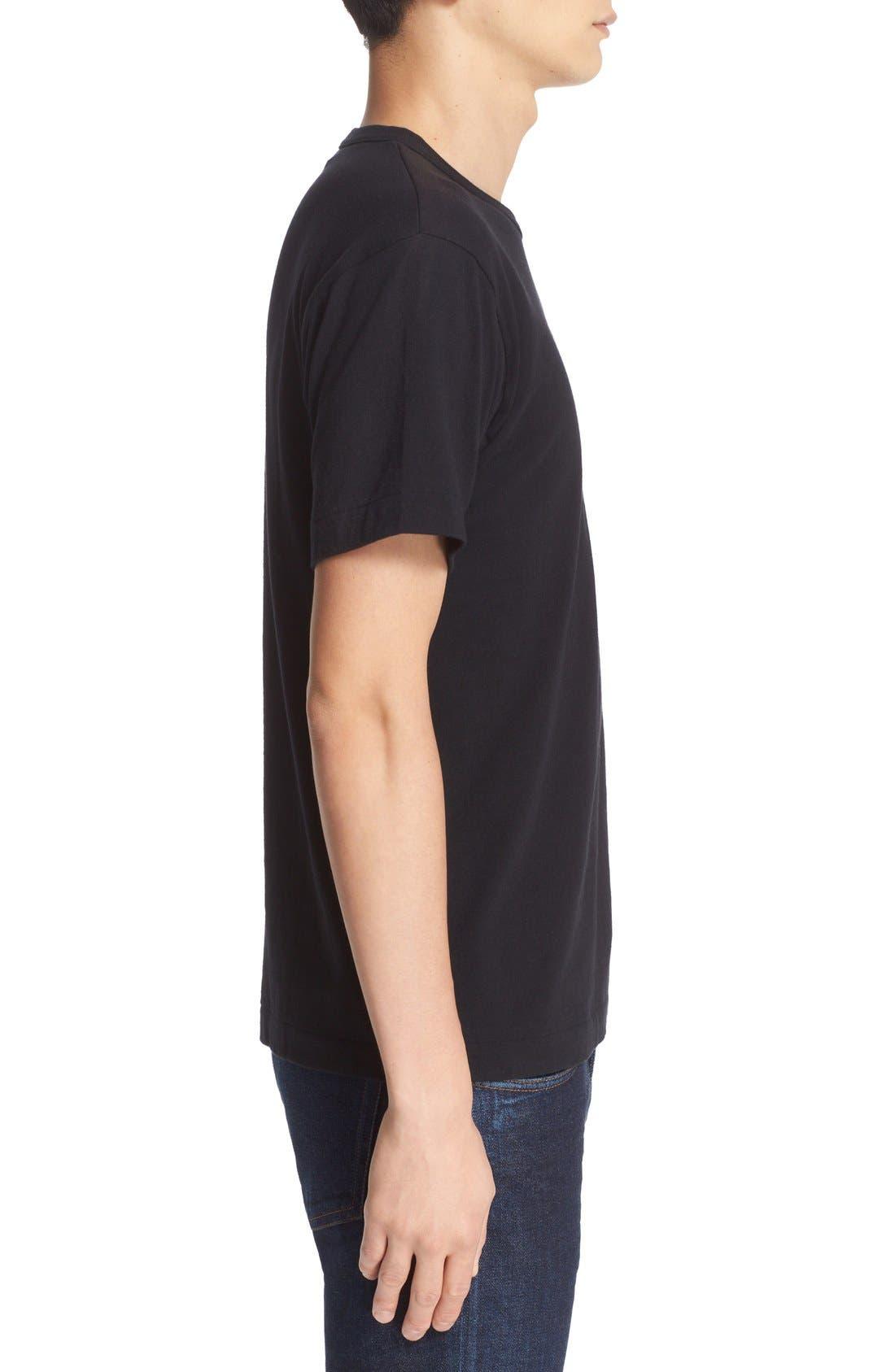 Comme des Garçons PLAY Logo Graphic T-Shirt,                             Alternate thumbnail 3, color,                             Black